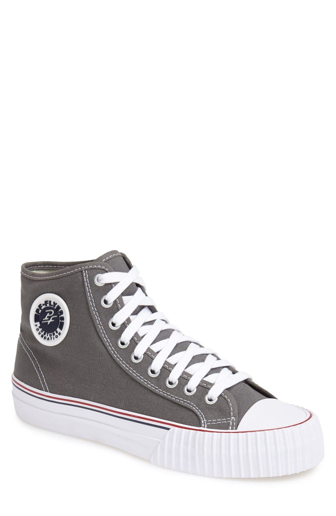 'Center Hi' Canvas Sneaker, Main, color, 030