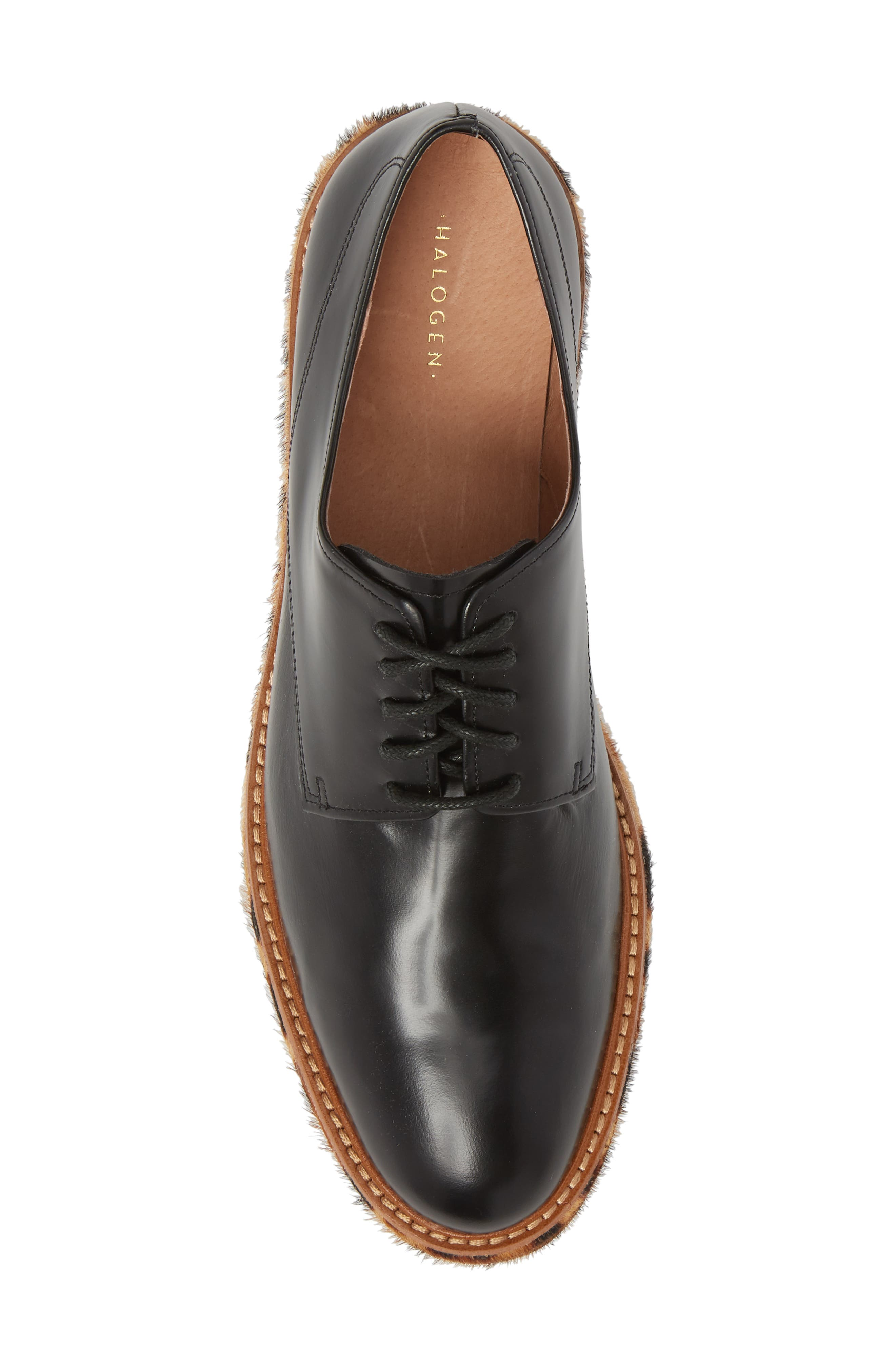 Maddox Oxford,                             Alternate thumbnail 5, color,                             BLACK BOX LEATHER/ LEOPARD