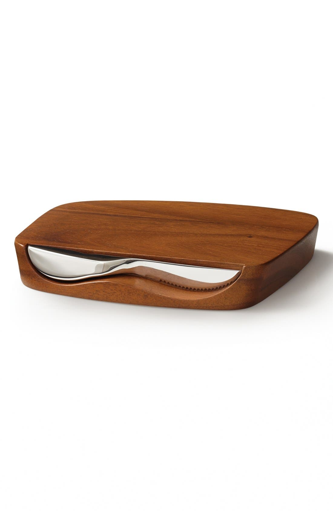 'Blend' Bar Board & Knife,                         Main,                         color, SILVER