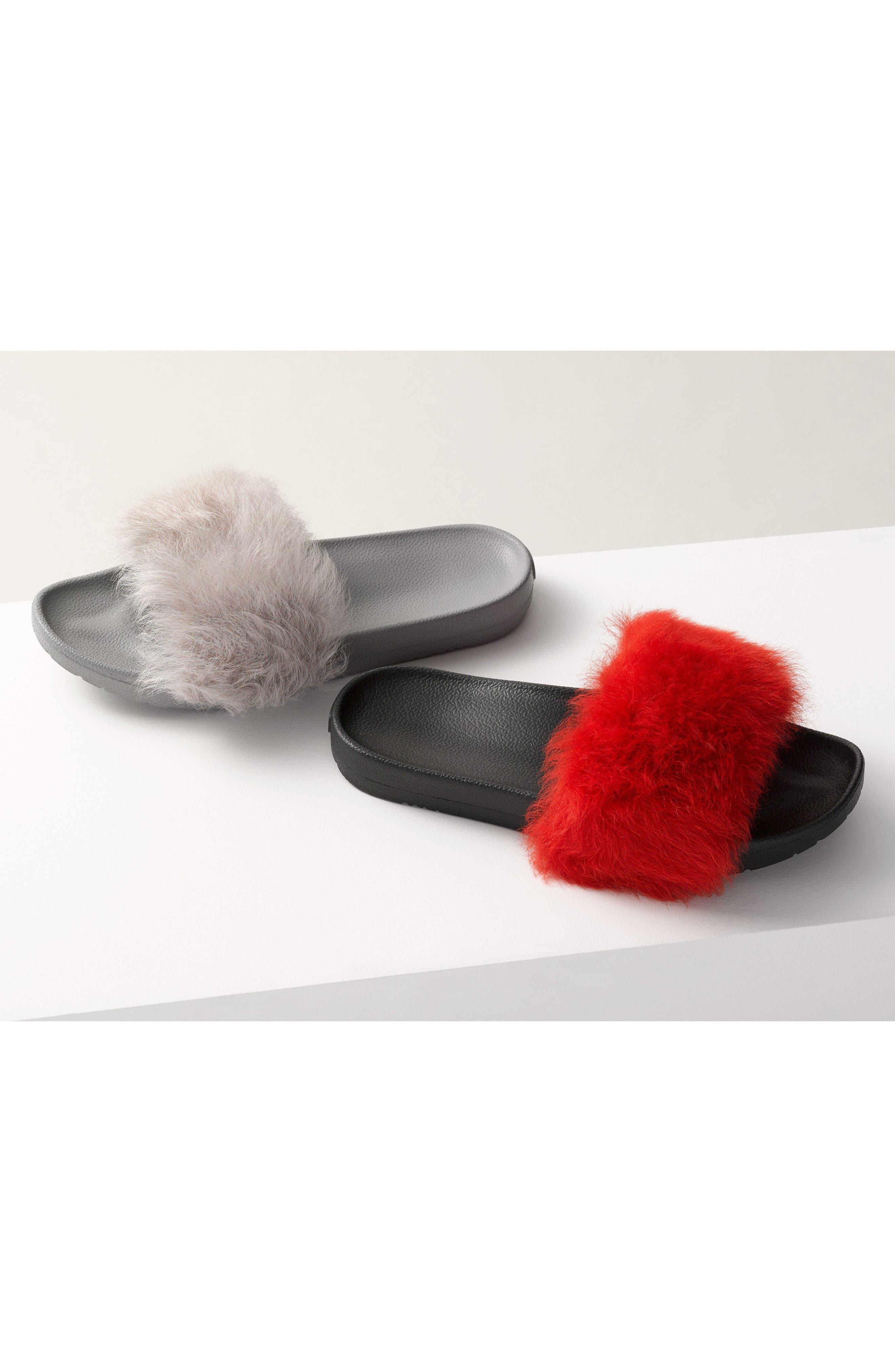 Royale Genuine Shearling Slide Sandal,                             Alternate thumbnail 7, color,                             627