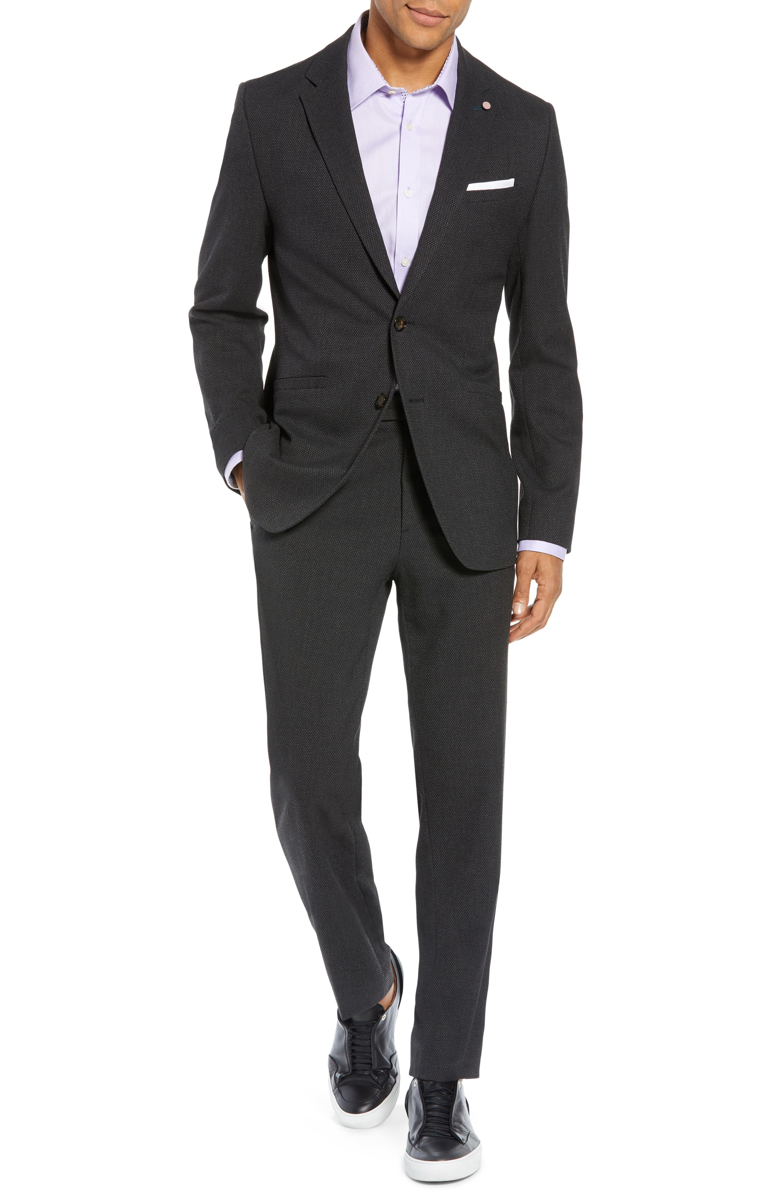 Gorka Slim Fit Suit Jacket,                             Alternate thumbnail 7, color,                             CHARCOAL