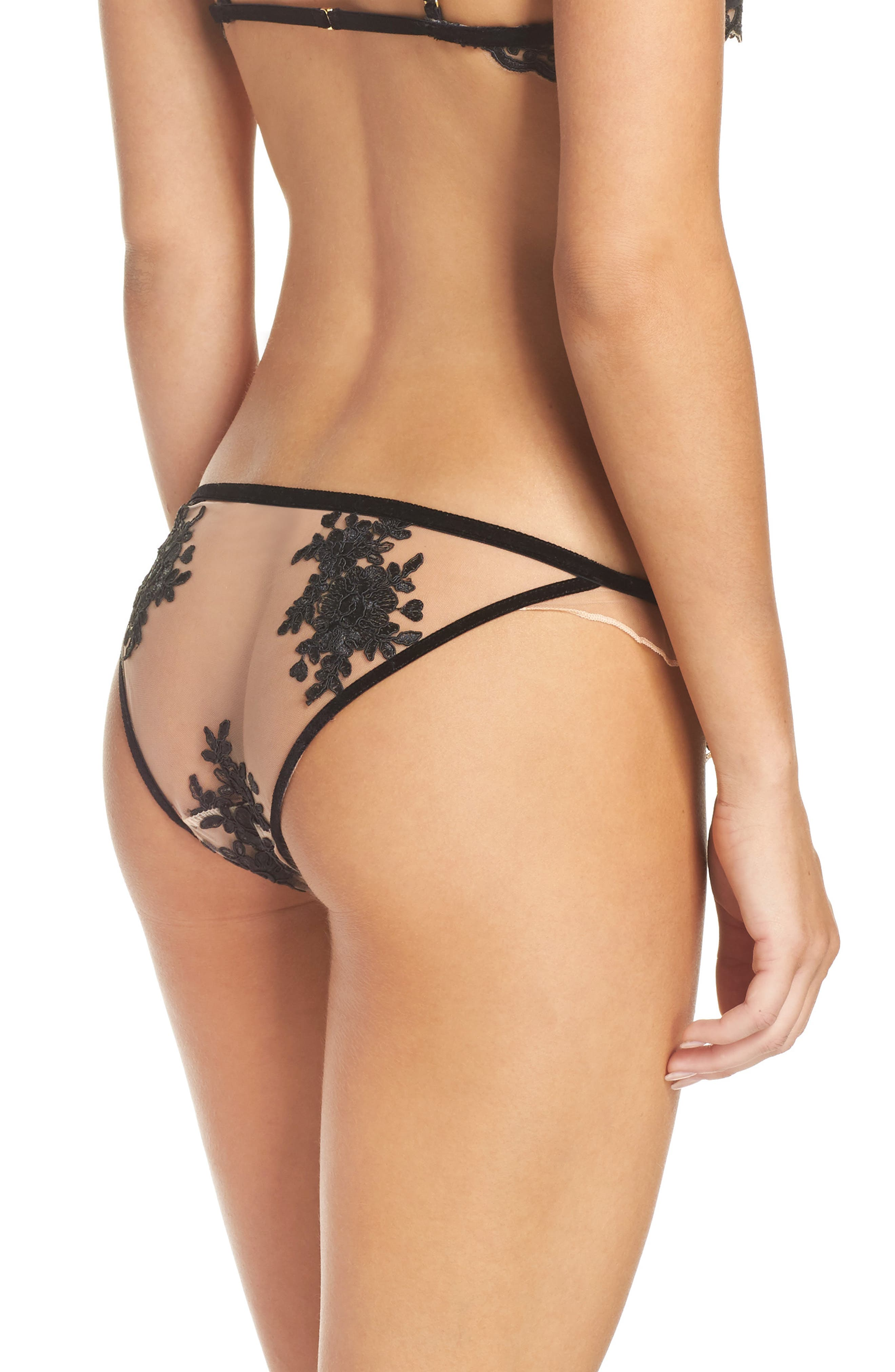 Noemi Ruffle Panties,                             Alternate thumbnail 2, color,                             001