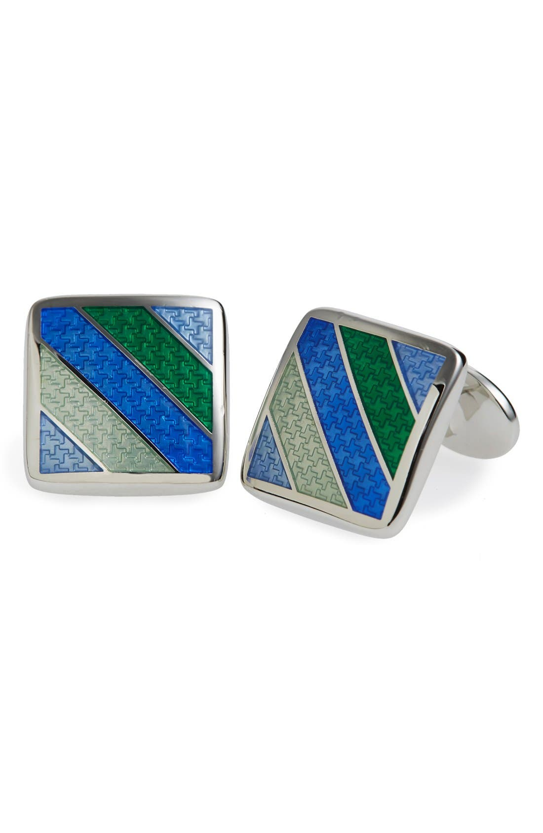 Enamel Cuff Links,                             Main thumbnail 2, color,