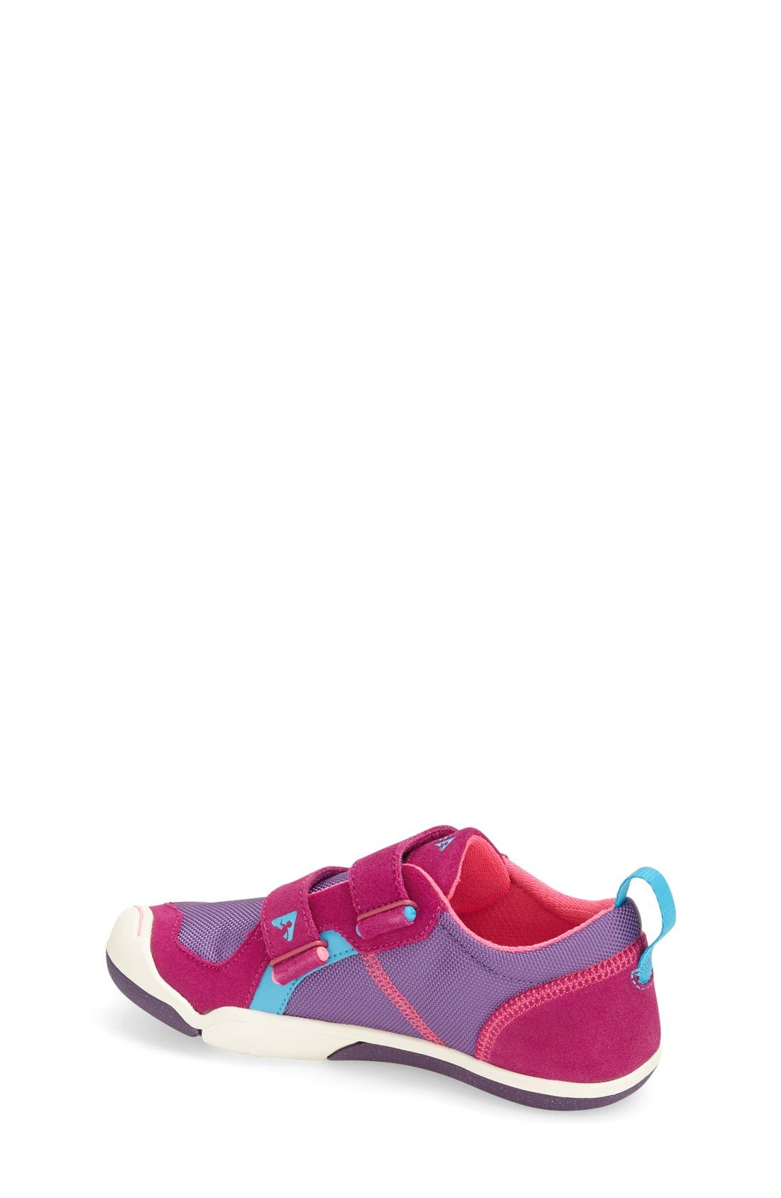 'Ty' Customizable Sneaker,                             Alternate thumbnail 4, color,                             FUCHSIA/ PURPLE