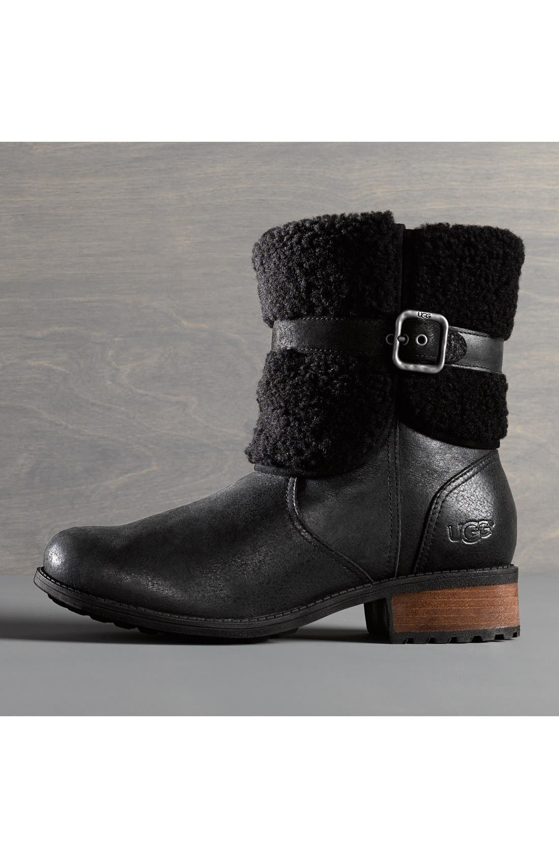 Blayre II Shearling Cuff Bootie,                             Alternate thumbnail 6, color,                             219