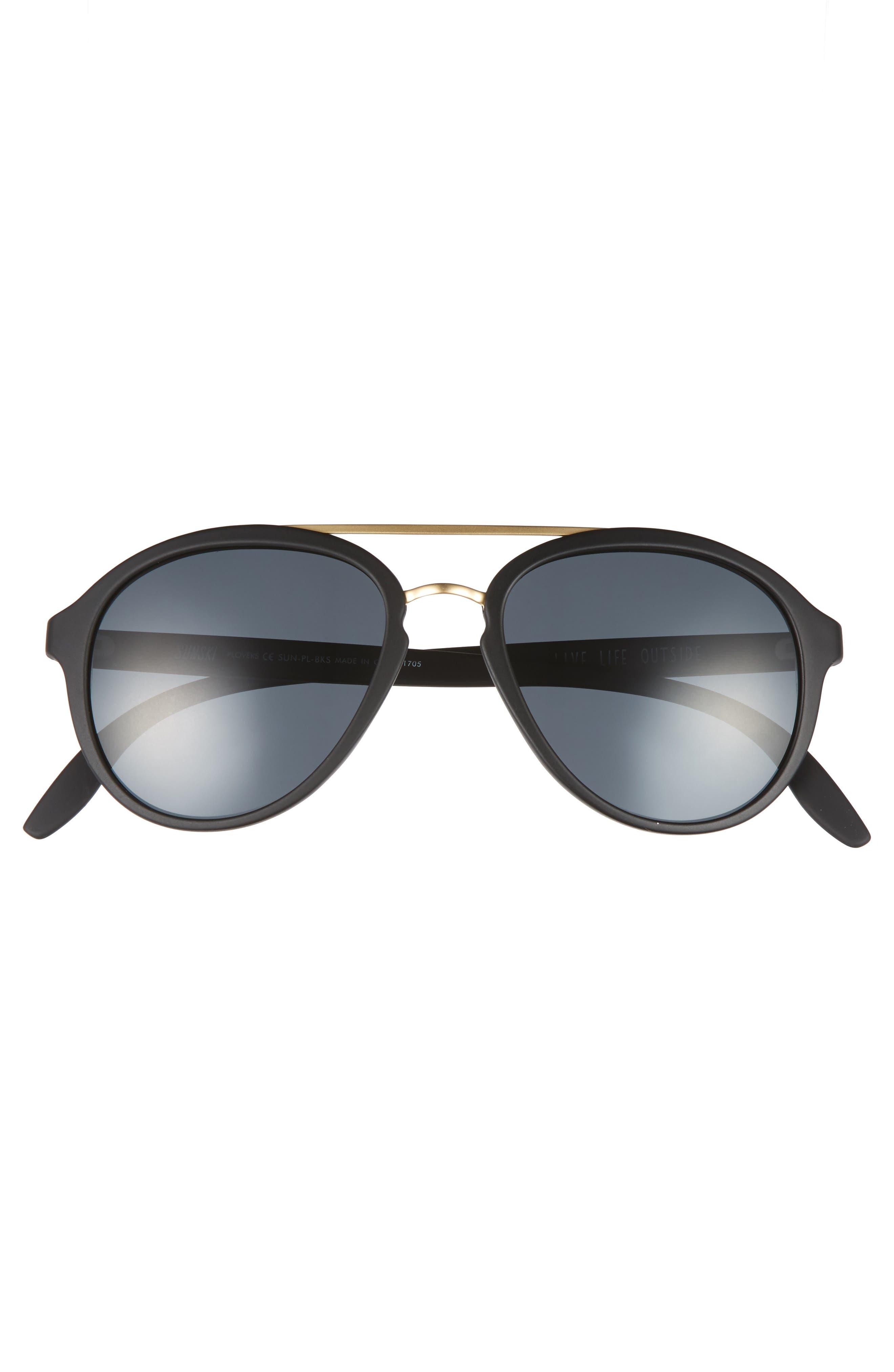 Plover 60mm Polarized Sunglasses,                             Alternate thumbnail 2, color,                             BLACK/ SLATE