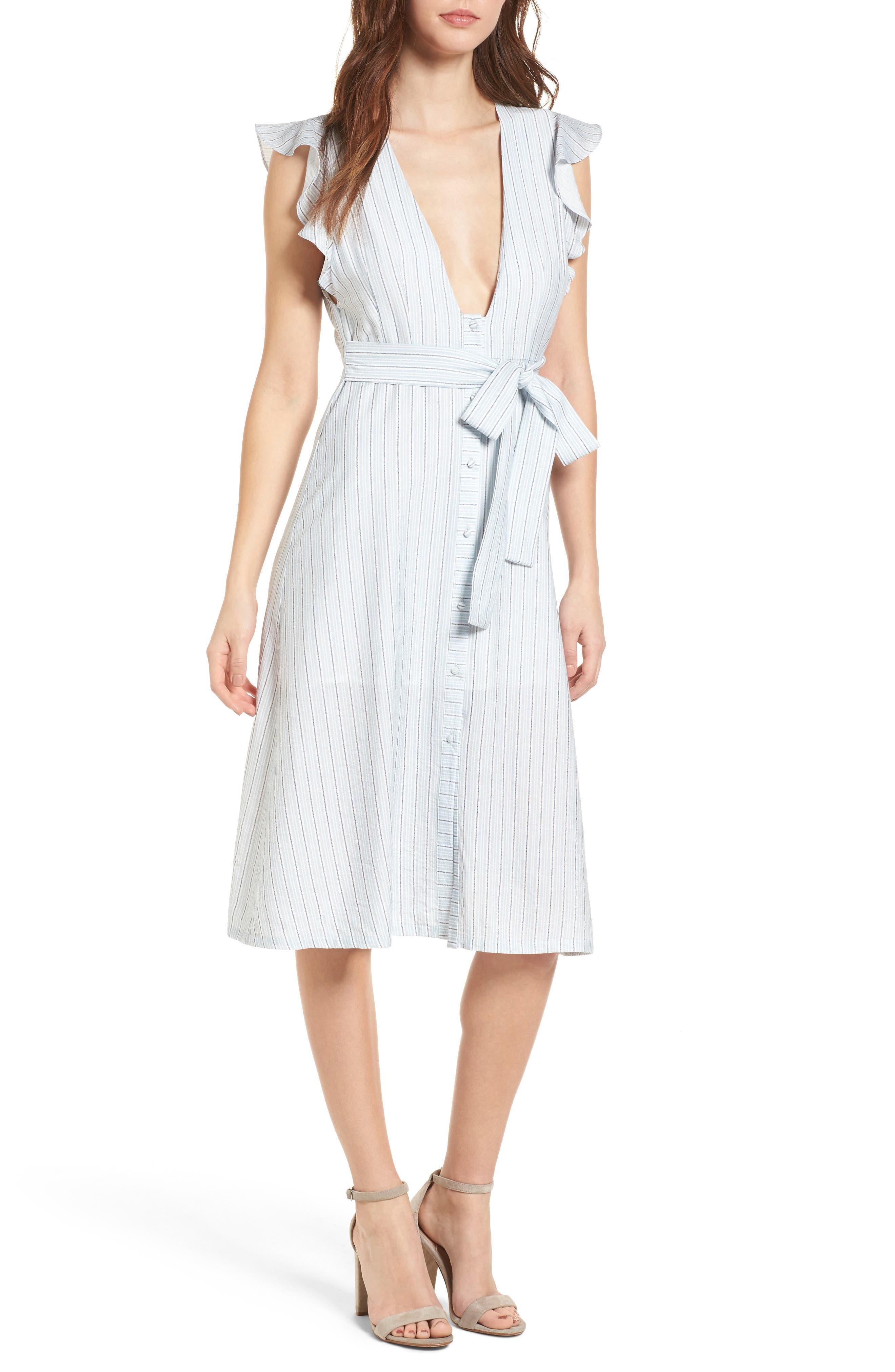 Button Front Midi Dress,                             Main thumbnail 1, color,                             400
