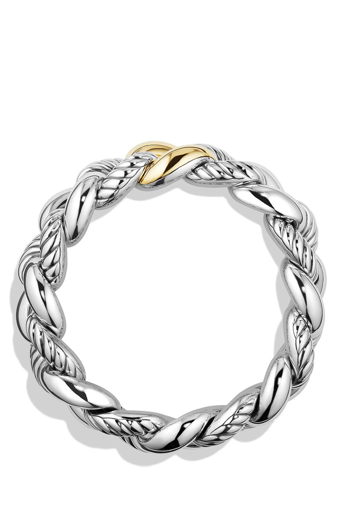 'Belmont' Curb Link Bracelet with 18K Gold,                             Alternate thumbnail 2, color,                             TWO TONE