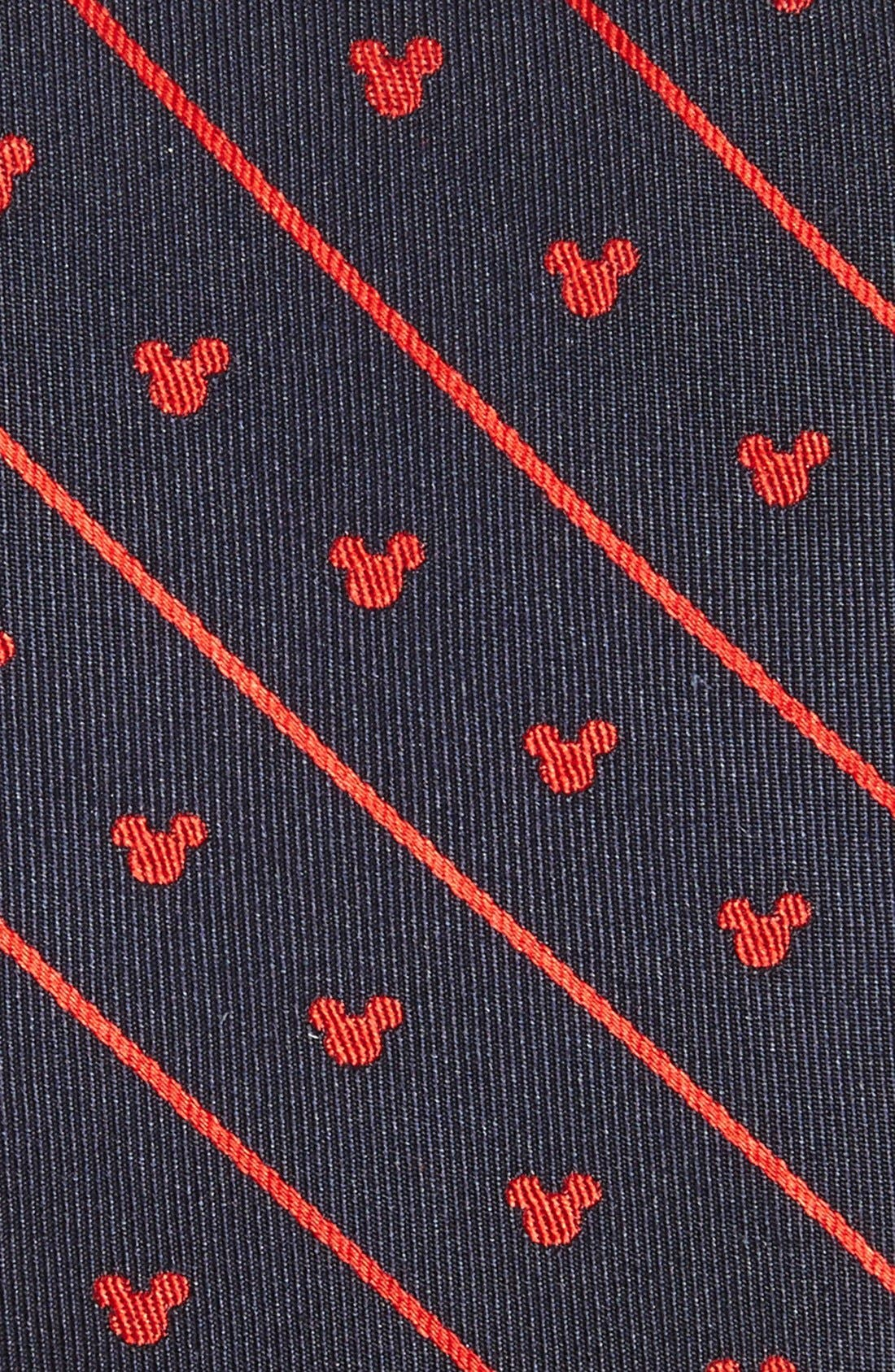 'Disney - Mickey Mouse Stripe' Silk Tie,                             Alternate thumbnail 2, color,                             410