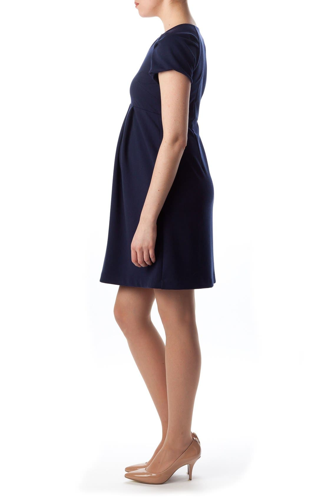 Central Park Maternity Dress,                             Alternate thumbnail 2, color,                             DRESS BLUES