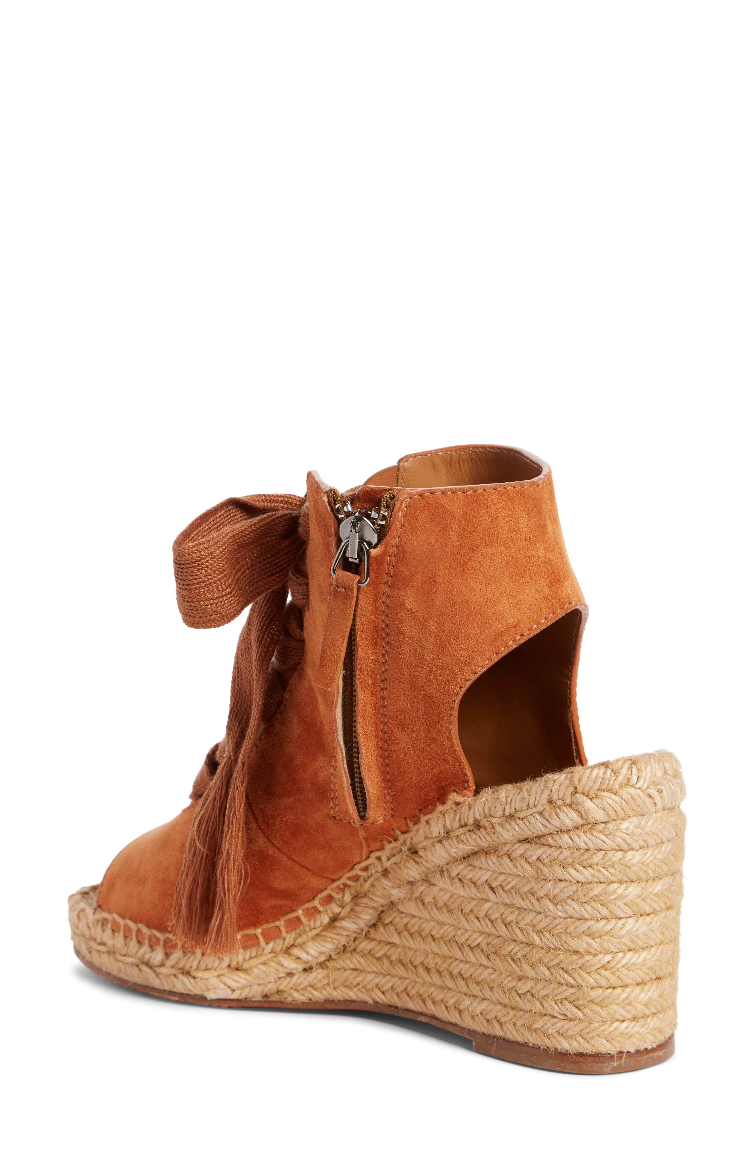 Harper Peep Toe Espadrille Bootie,                             Alternate thumbnail 4, color,