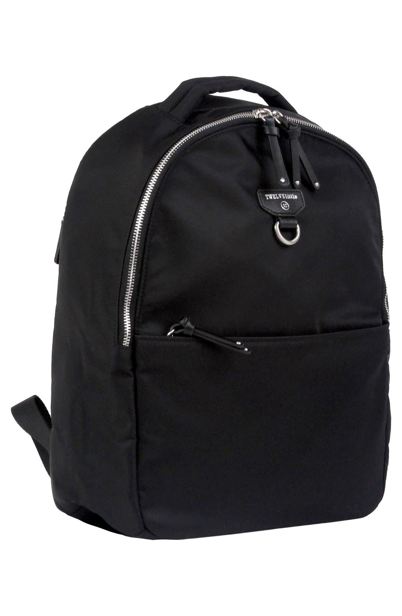Mini-Go Water Resistant Diaper Backpack,                             Alternate thumbnail 4, color,                             BLACK