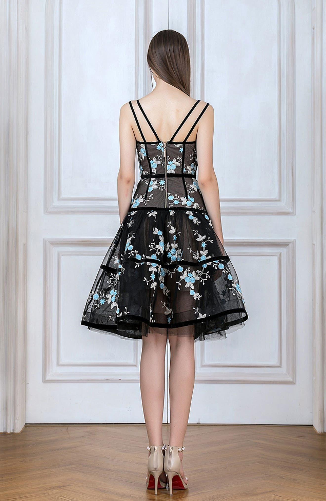 Marietta Fit & Flare Dress,                             Alternate thumbnail 8, color,