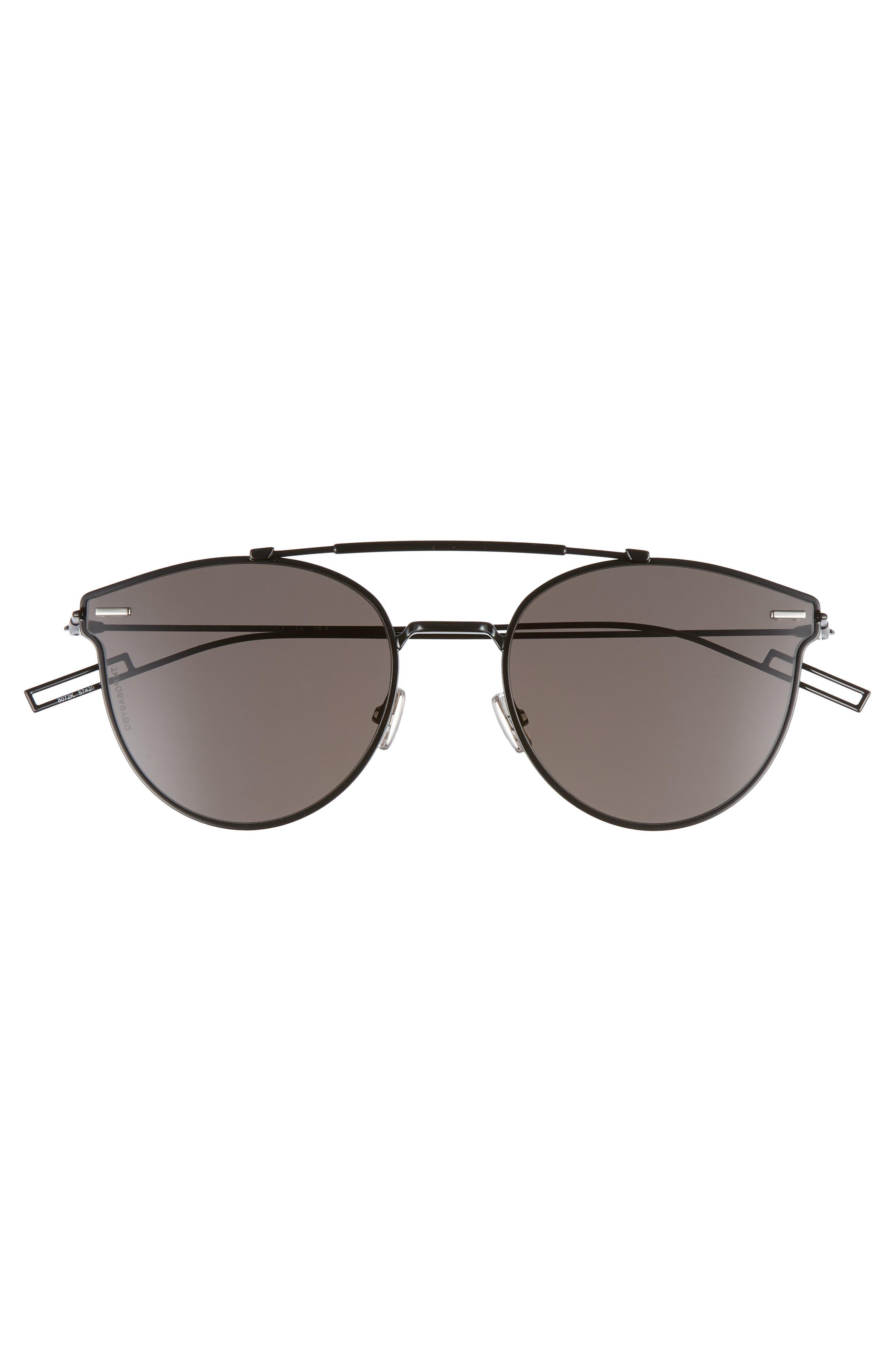 Pressure 57mm Sunglasses,                             Alternate thumbnail 2, color,                             BLACK