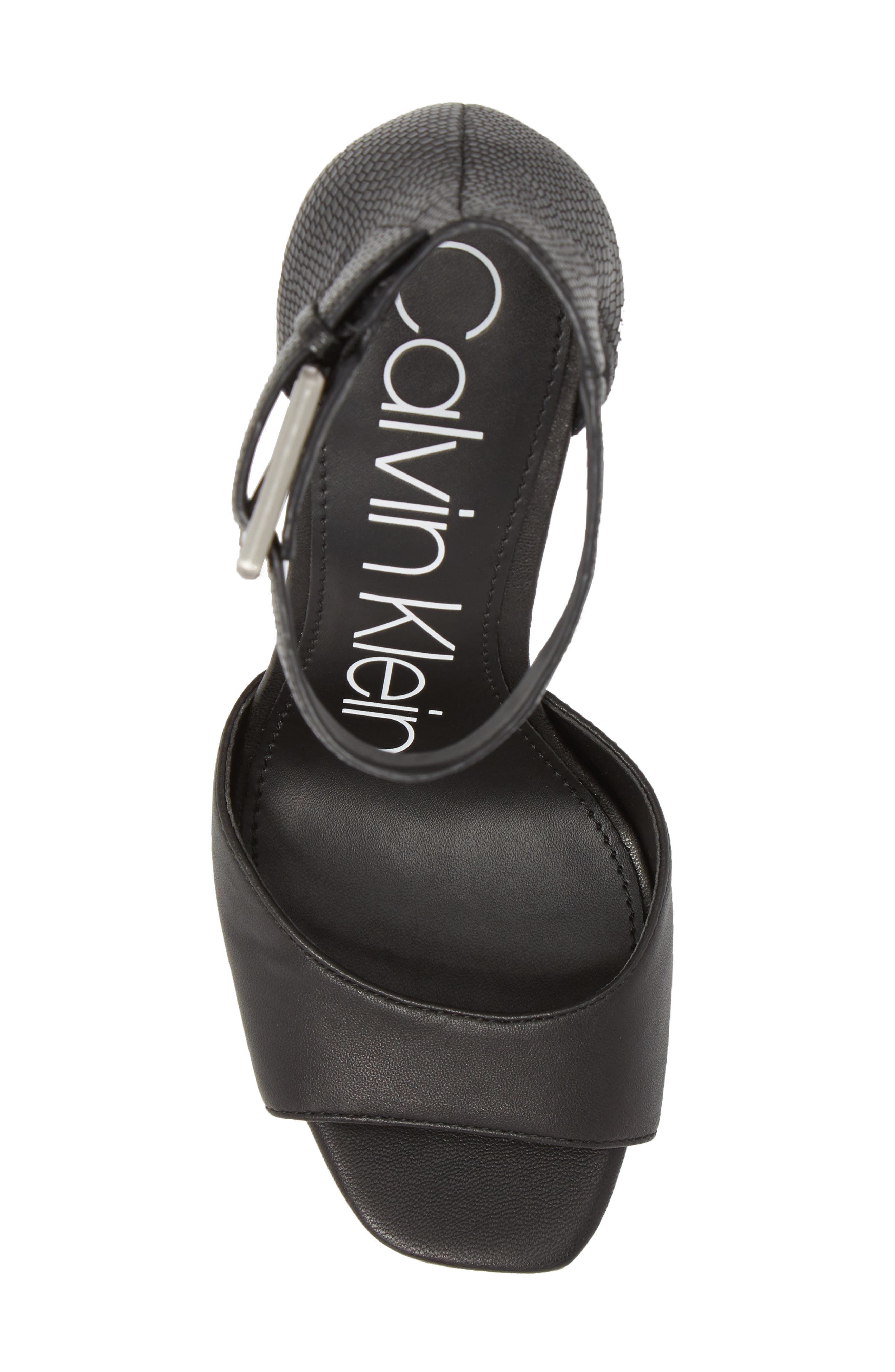 Marinda Halo Strap Sandal,                             Alternate thumbnail 5, color,                             BLACK LEATHER