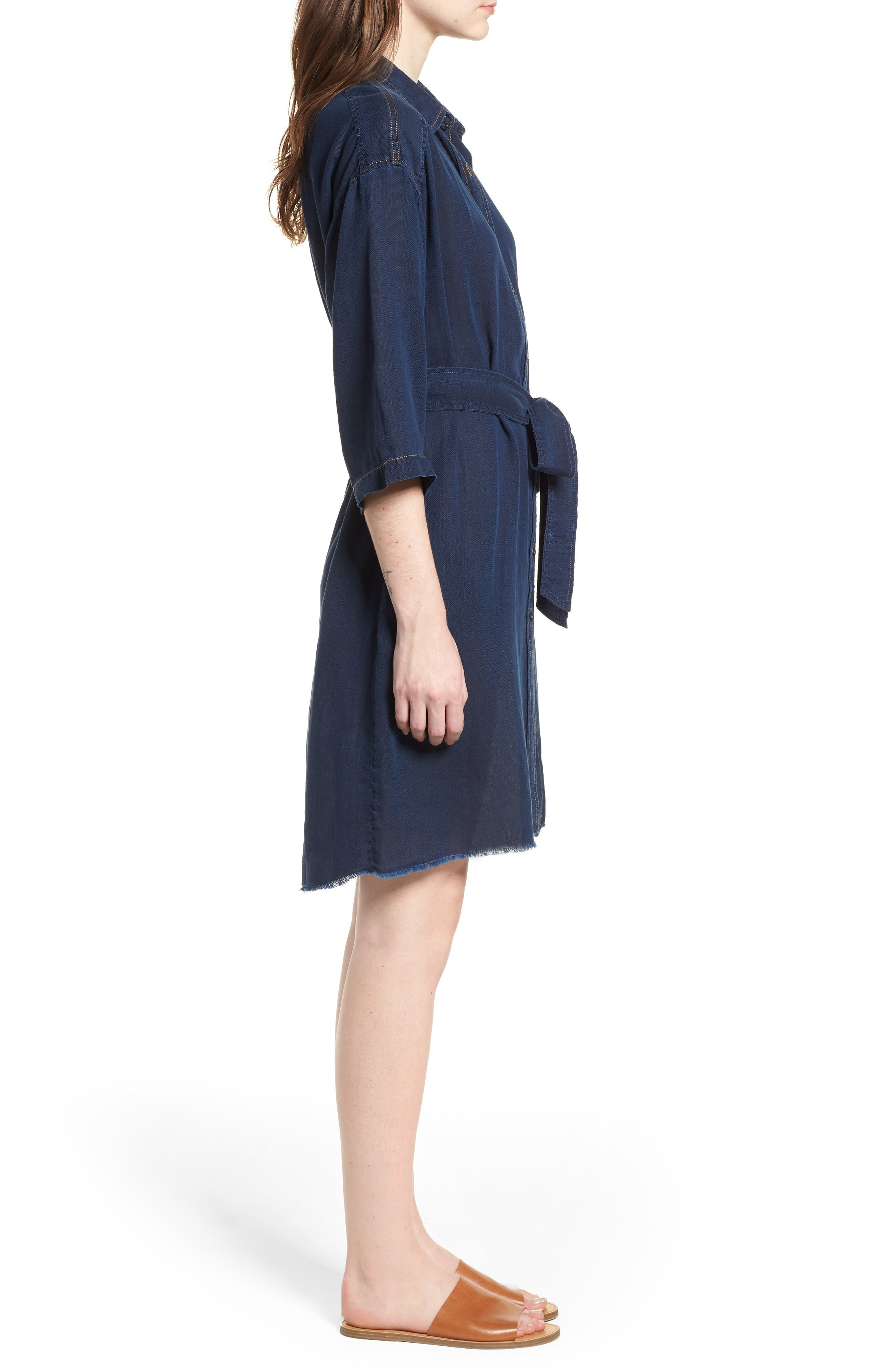 AG,                             Claudia Canvas Shirtdress,                             Alternate thumbnail 4, color,                             425