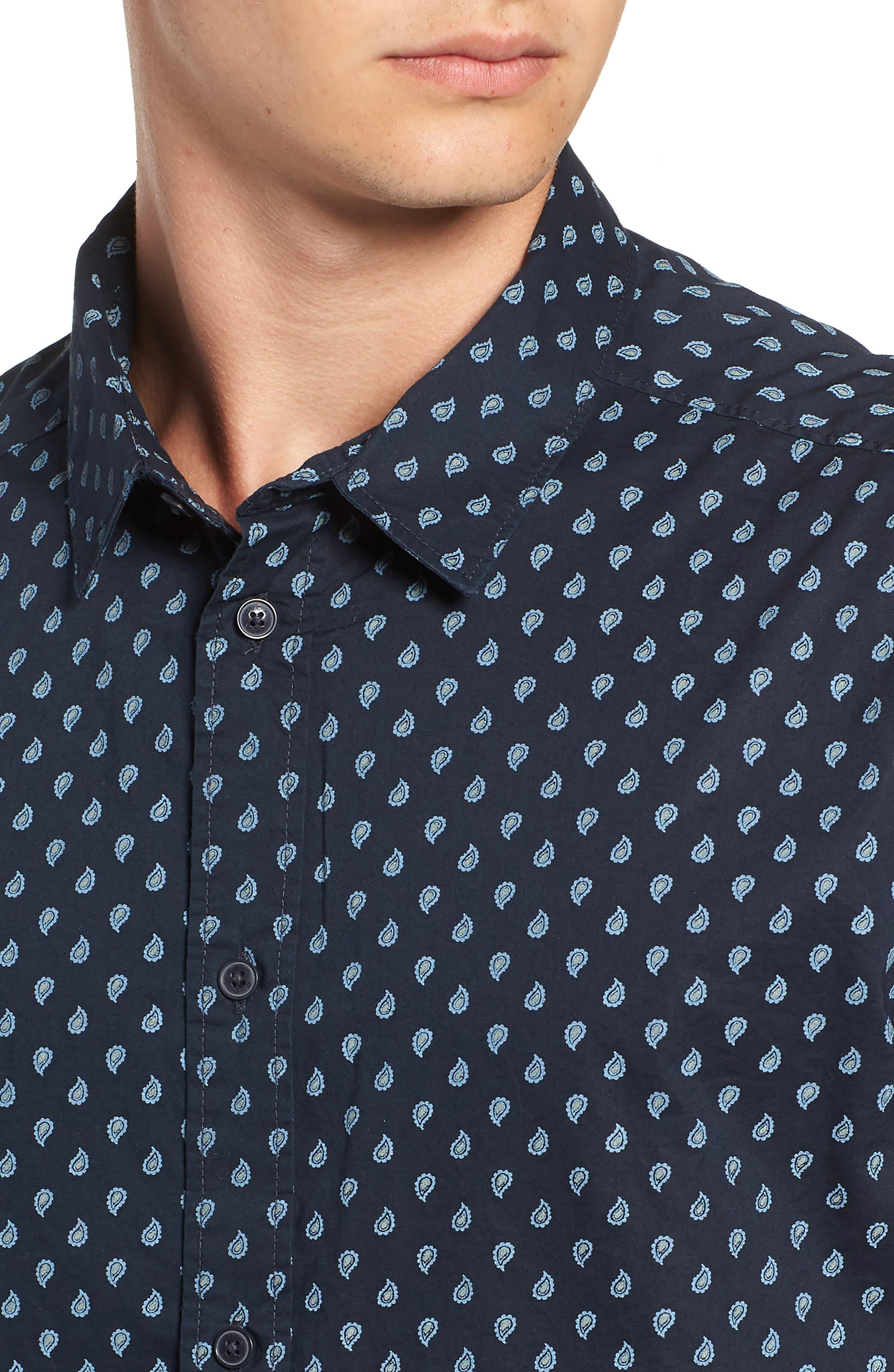 Mini Paisley Woven Long Sleeve Shirt,                             Alternate thumbnail 2, color,                             402