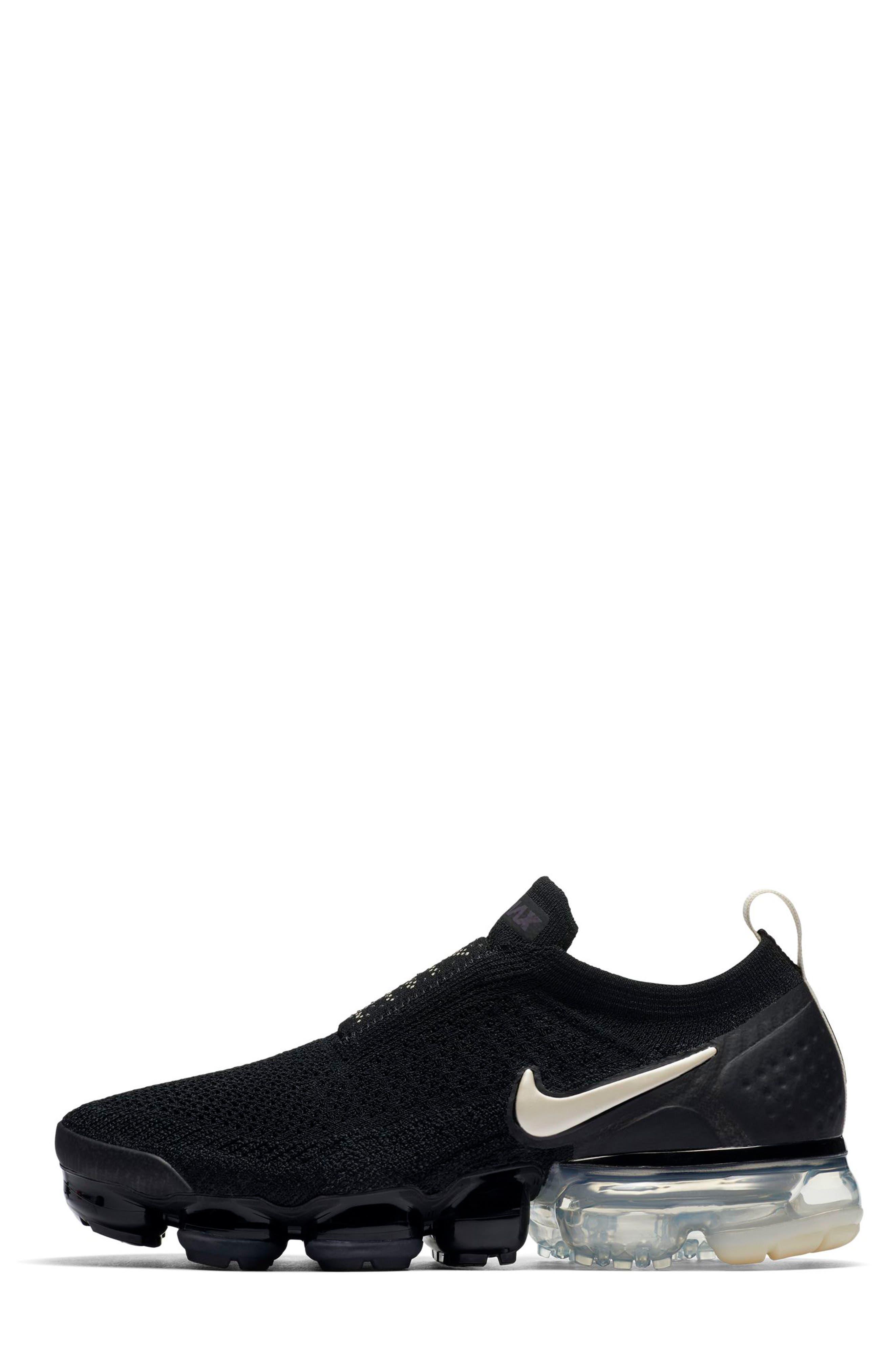 Air VaporMax Flyknit MOC 2 Running Shoe,                             Alternate thumbnail 3, color,                             BLACK