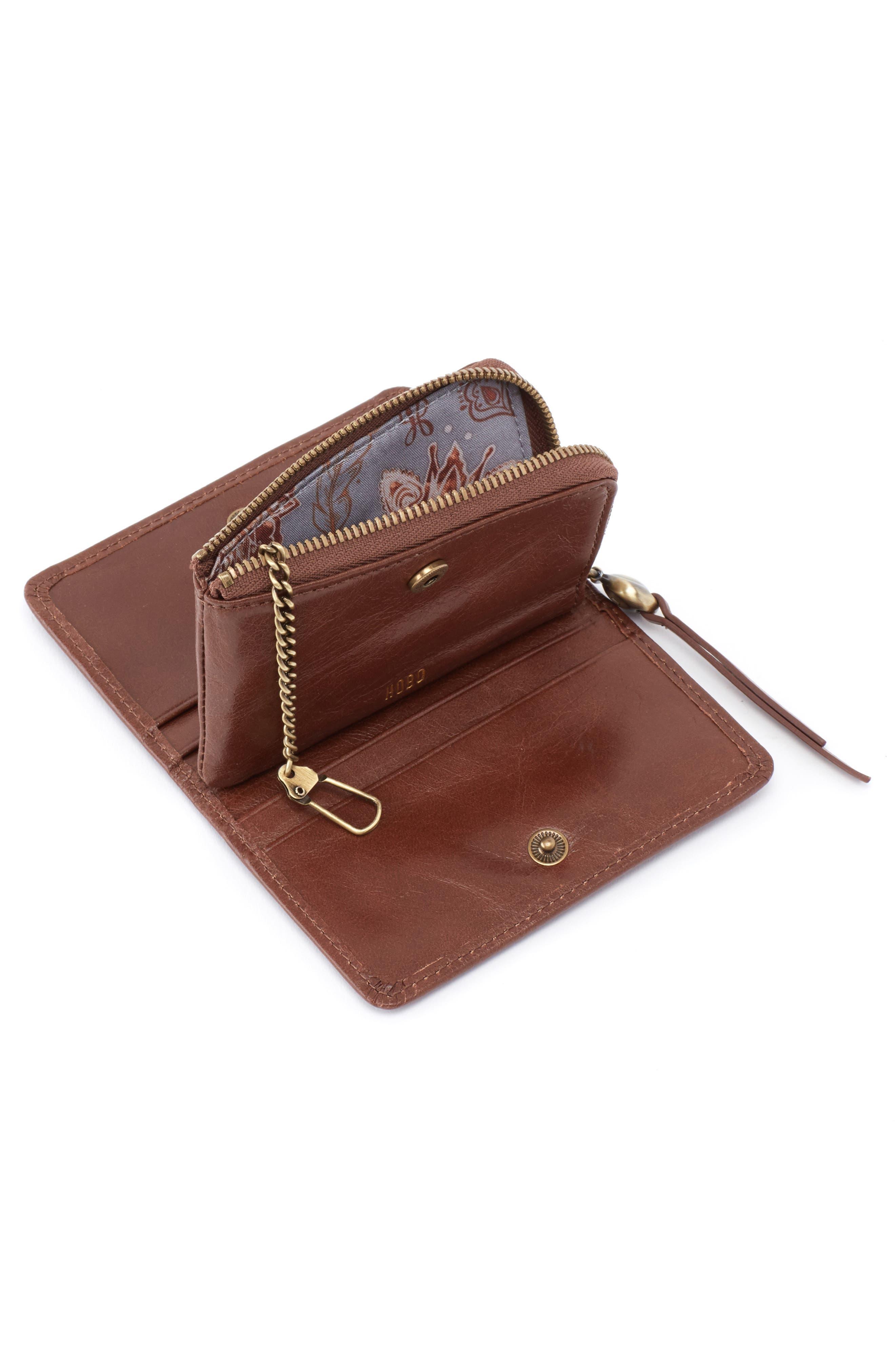 Dart Calfskin Leather Wallet,                             Alternate thumbnail 2, color,                             WOODLANDS