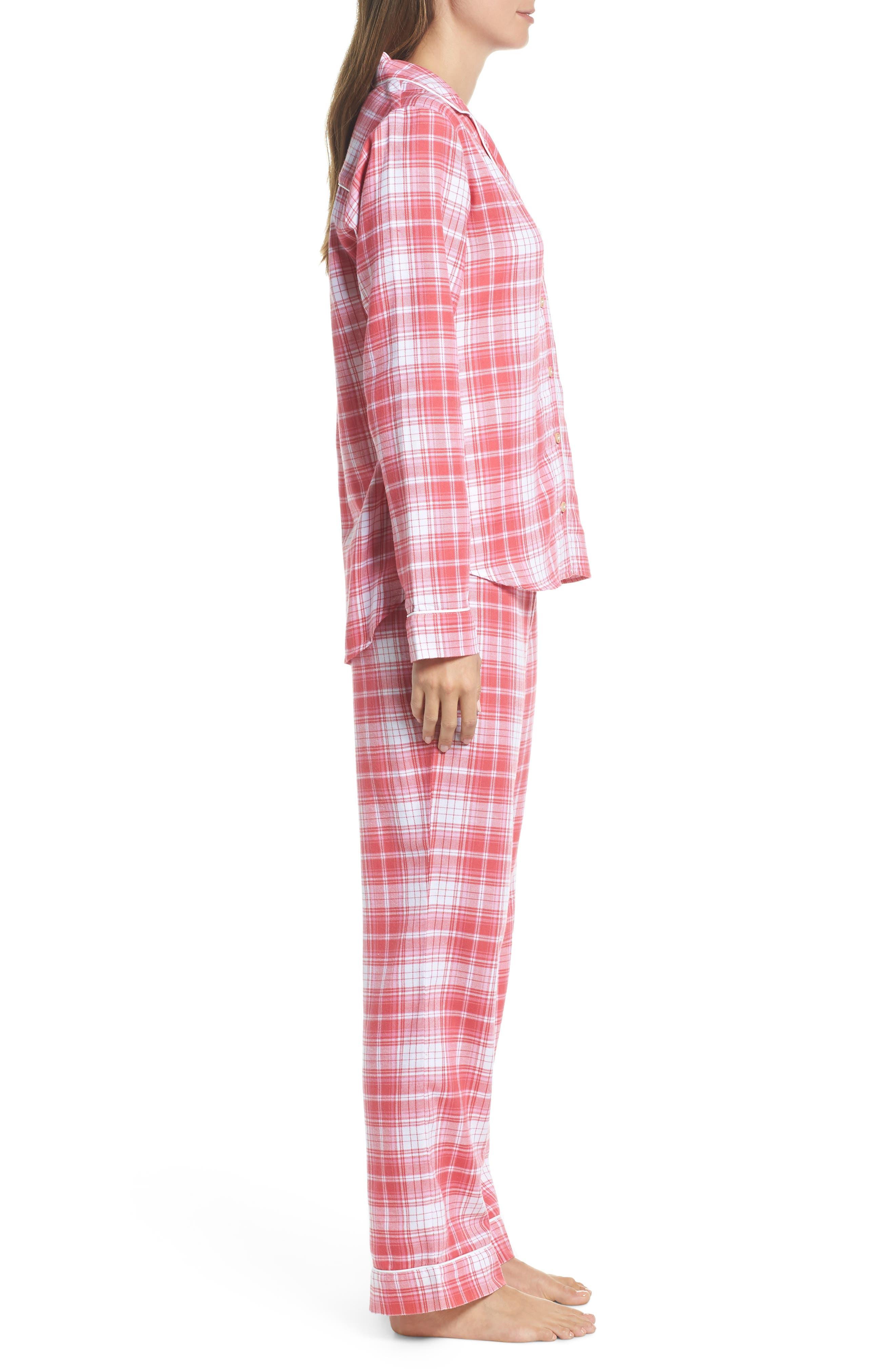 Raven Plaid Pajamas,                             Alternate thumbnail 3, color,                             CLARET RED PLAID