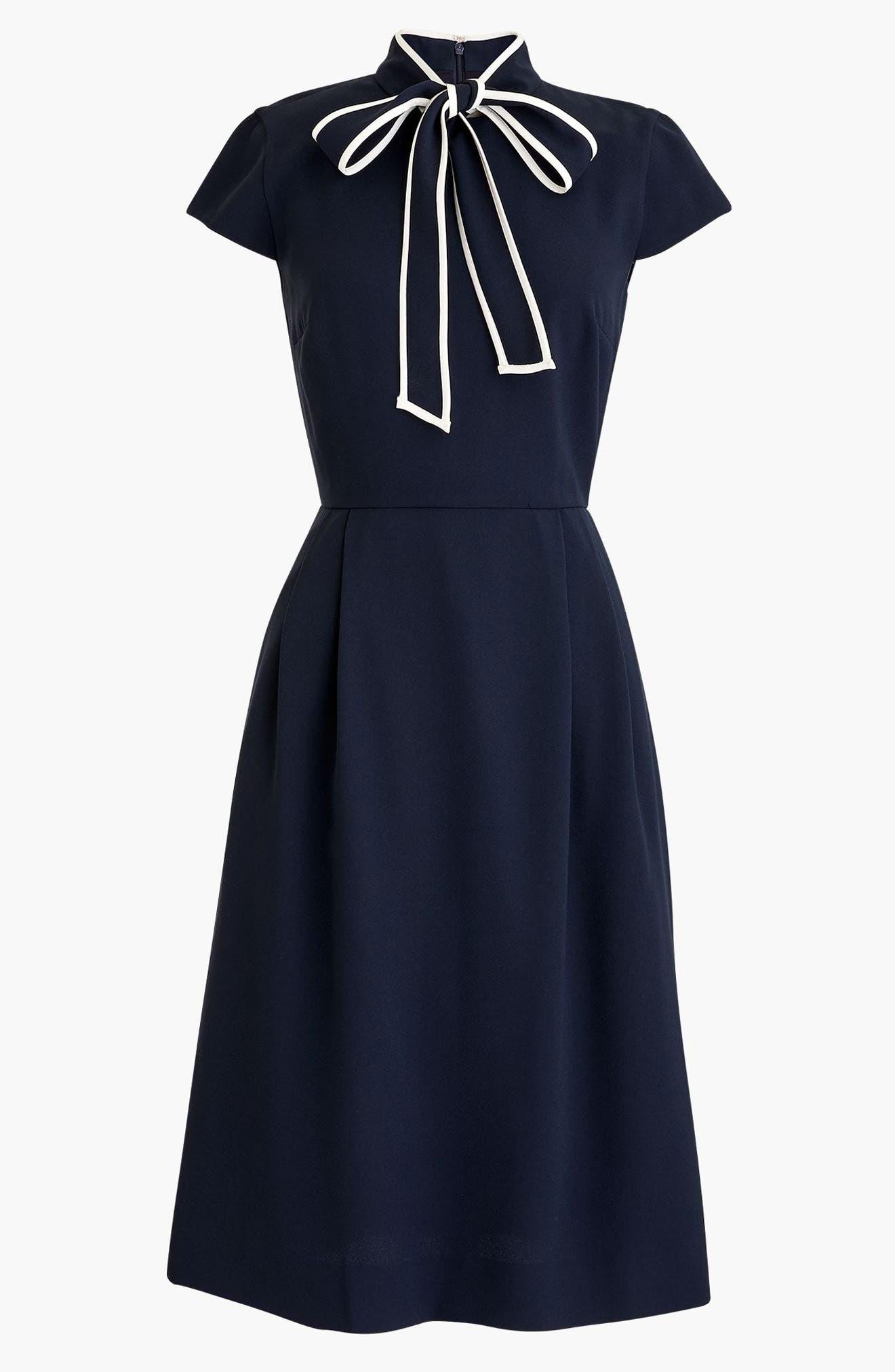 Tie-Neck Dress,                             Alternate thumbnail 3, color,                             400