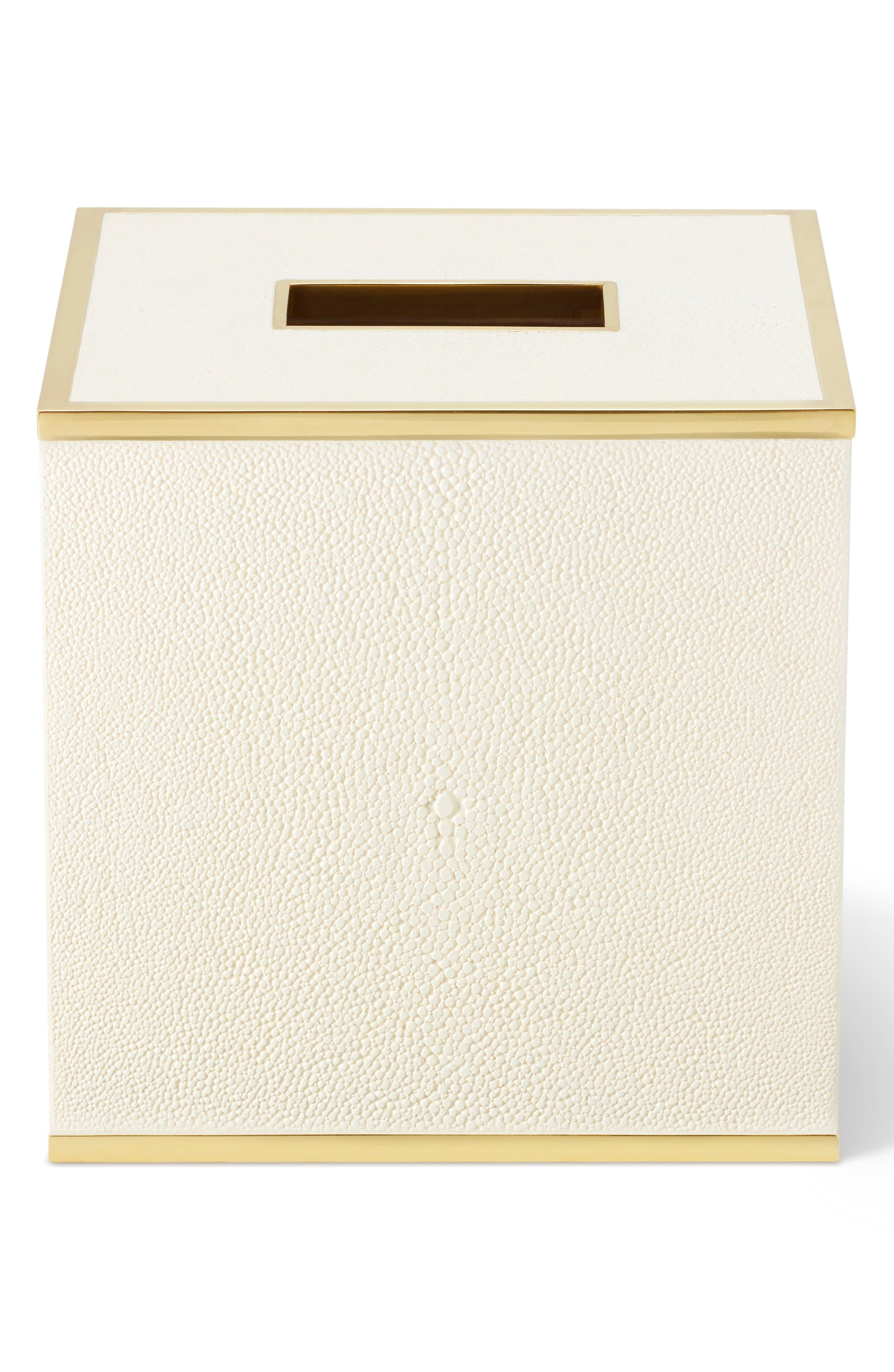 AERIN,                             Shagreen Tissue Box,                             Main thumbnail 1, color,                             CREAM
