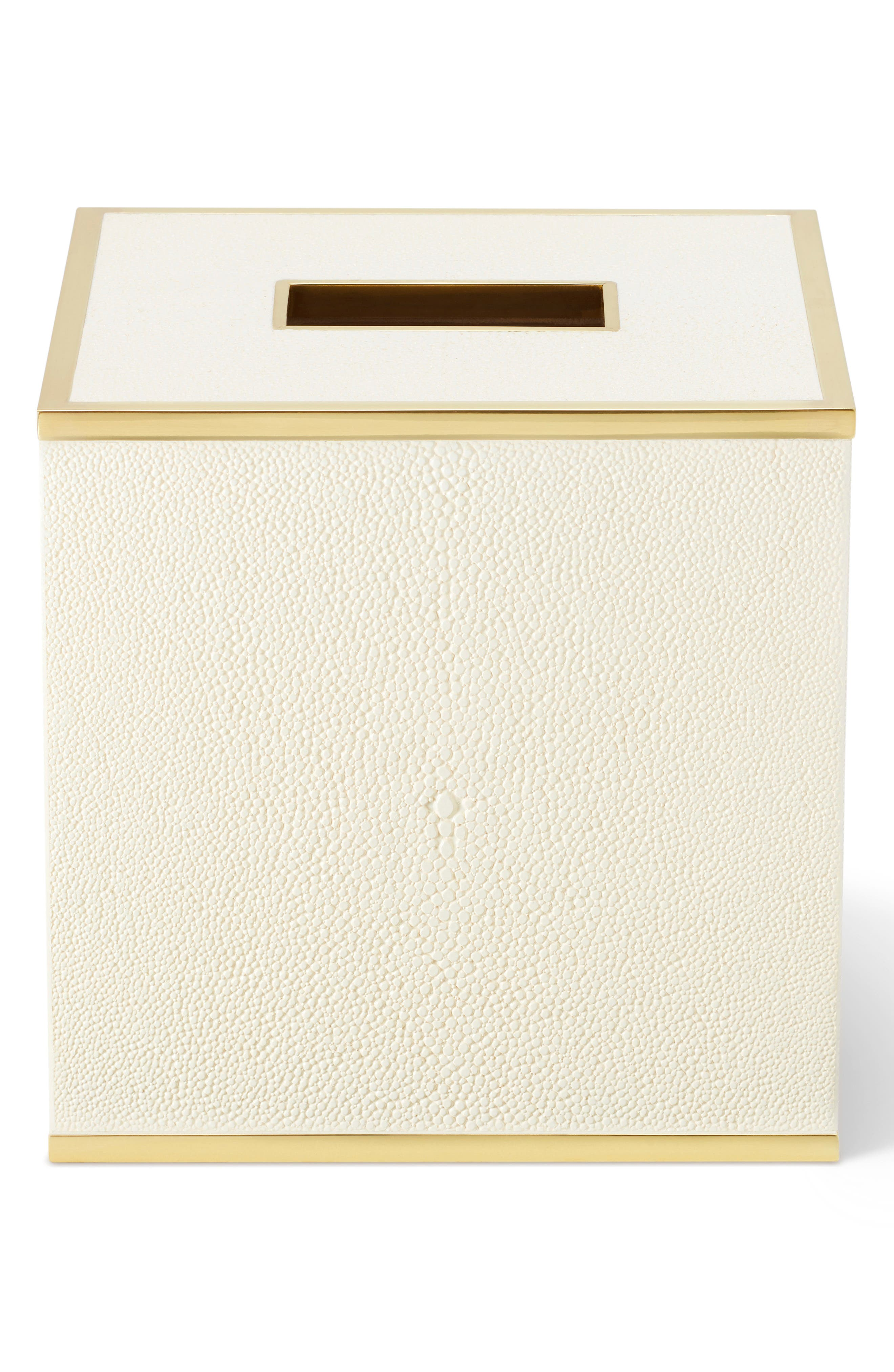 AERIN Shagreen Tissue Box, Main, color, CREAM