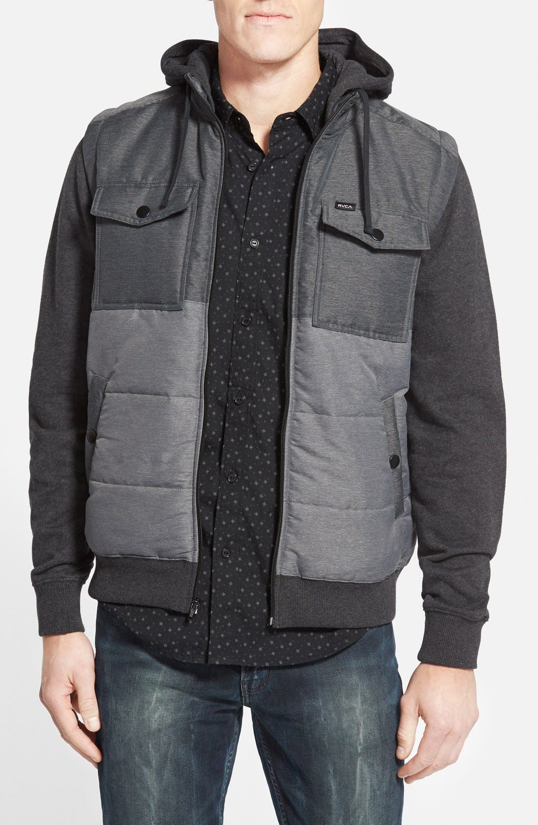 'Wayward' Puffer Jacket, Main, color, 001
