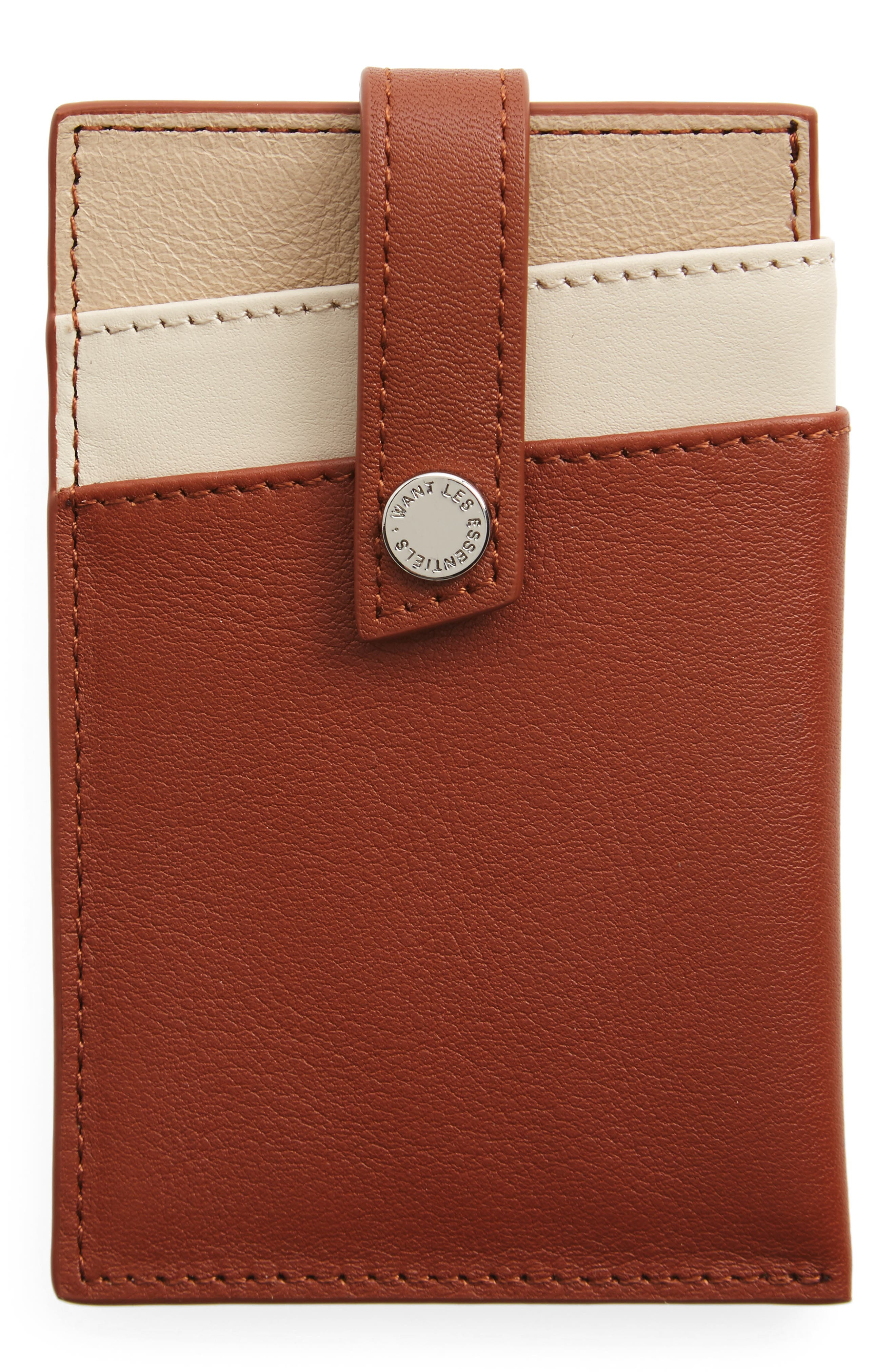 'Kennedy' Leather Money Clip Card Case,                             Alternate thumbnail 6, color,
