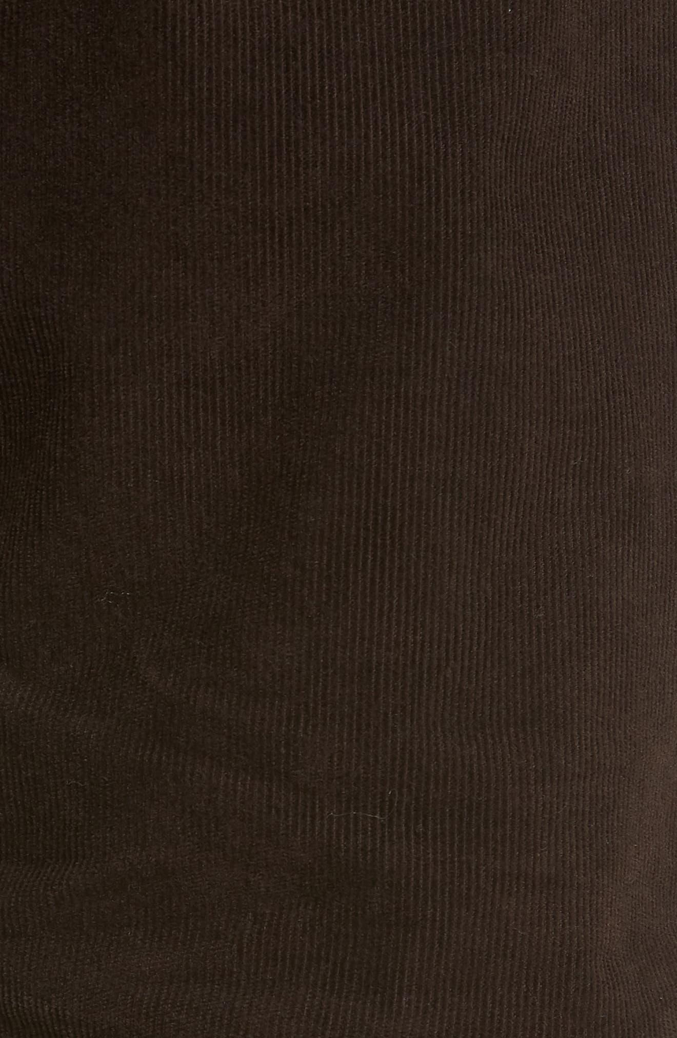 Everett Straight Leg Corduroy Pants,                             Alternate thumbnail 5, color,                             SULFUR SHUTTER