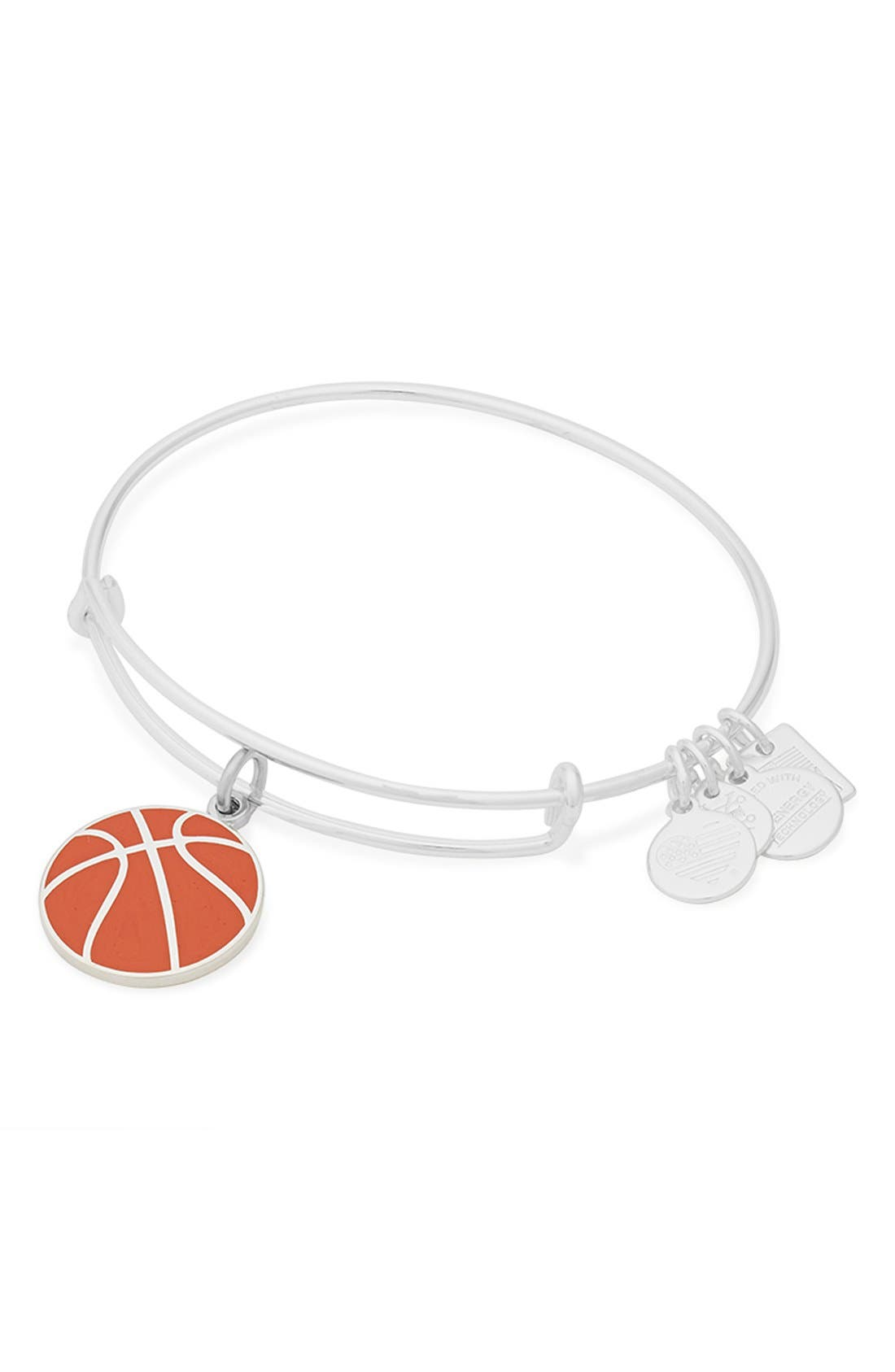 'Team USA - Basketball' Expandable Wire Bangle,                             Alternate thumbnail 2, color,                             040