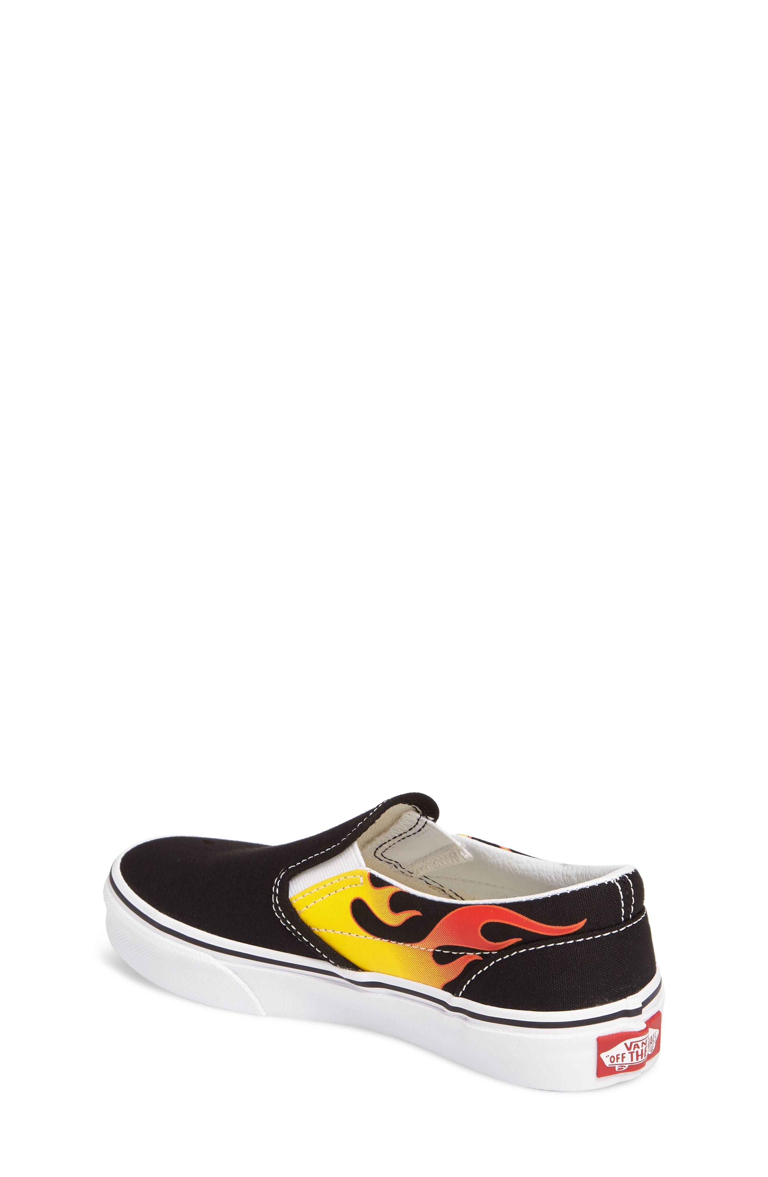 Flame Classic Slip-On Sneaker,                             Alternate thumbnail 2, color,                             002