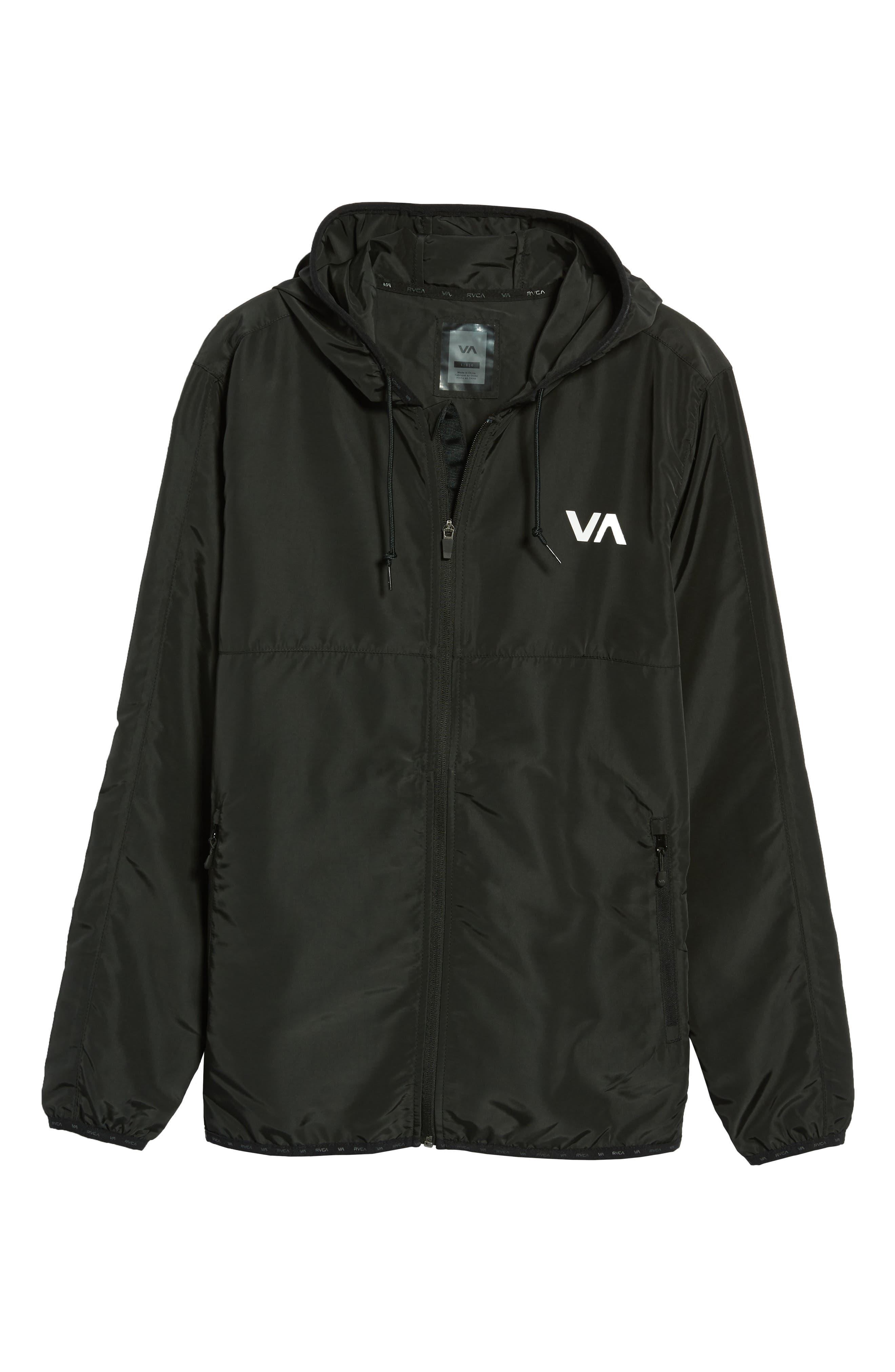 Axe Packable Water Resistant Jacket,                             Alternate thumbnail 4, color,                             BLACK