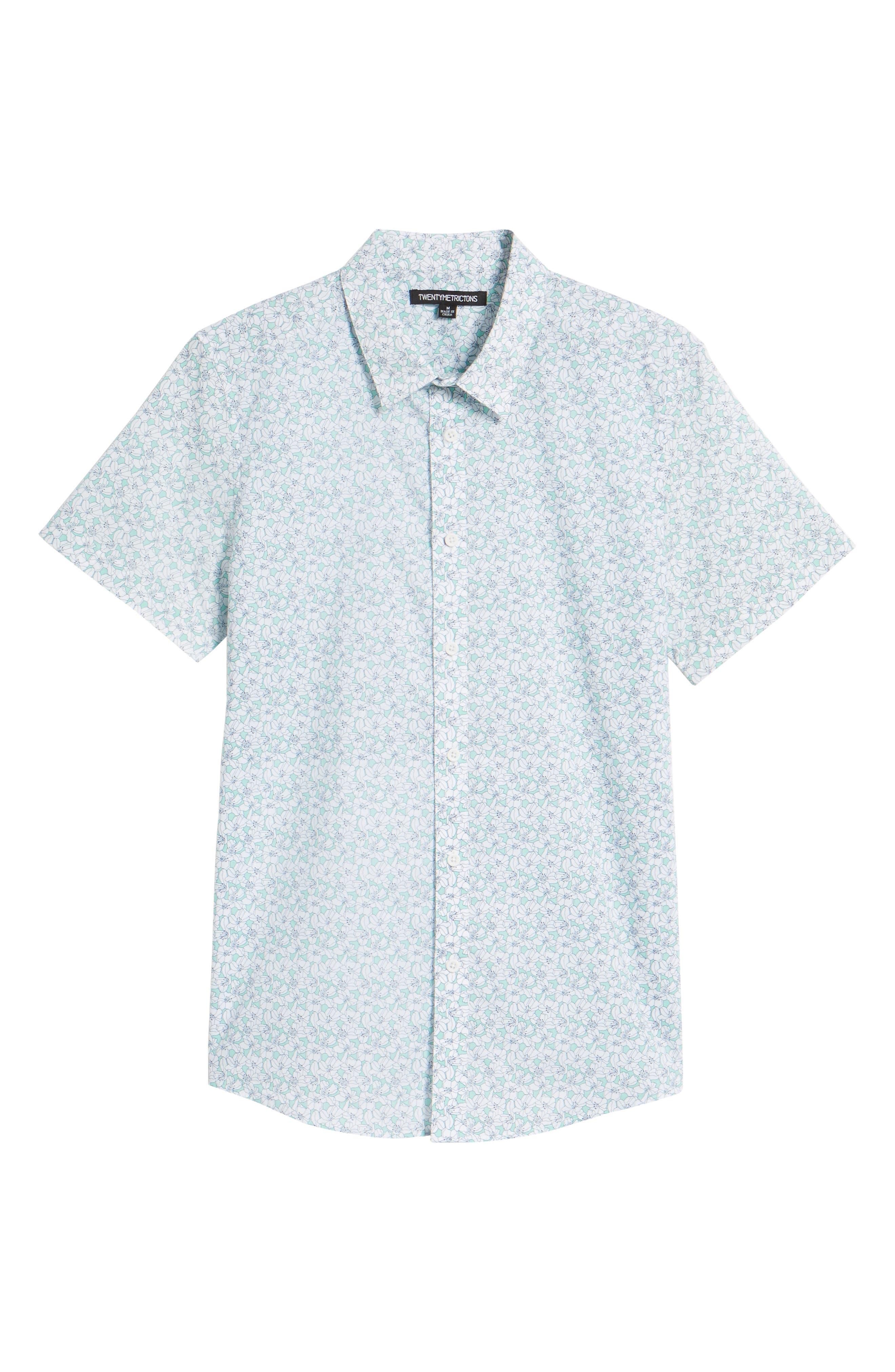 Slim Flit Floral Woven Shirt,                             Alternate thumbnail 6, color,                             332