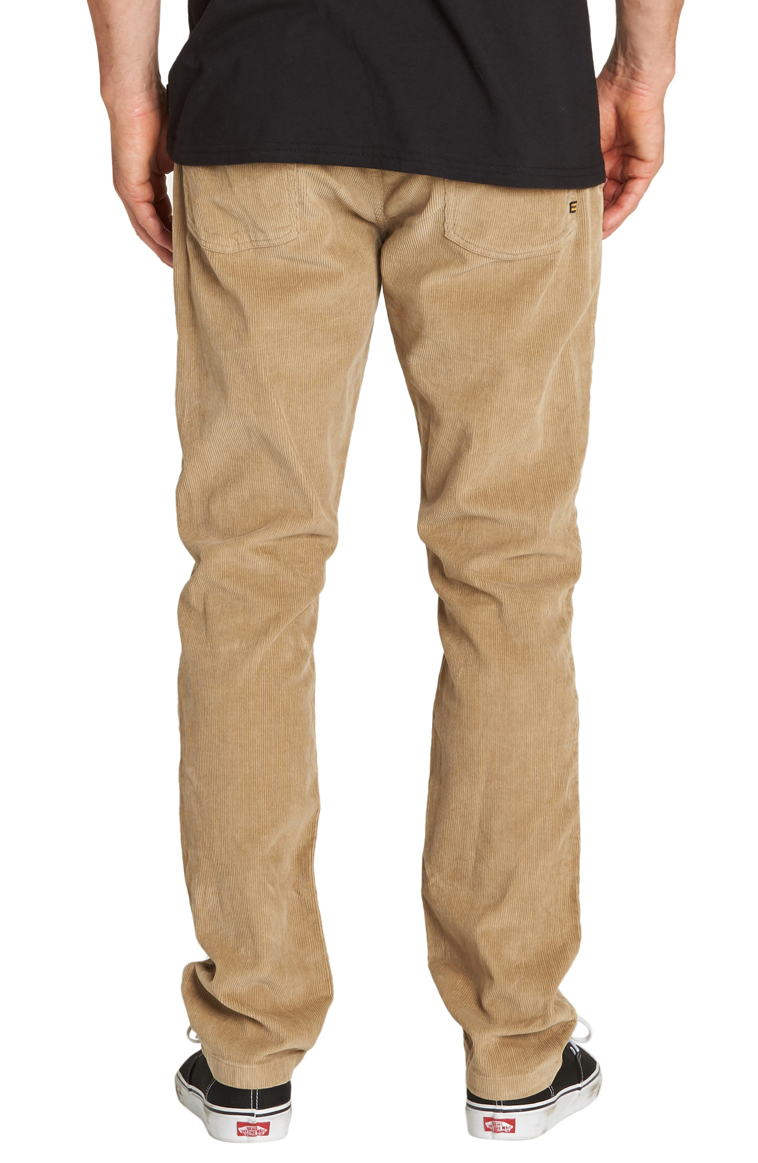 Outsider Slim Straight Leg Corduroy Pants,                             Alternate thumbnail 2, color,                             GRAVEL
