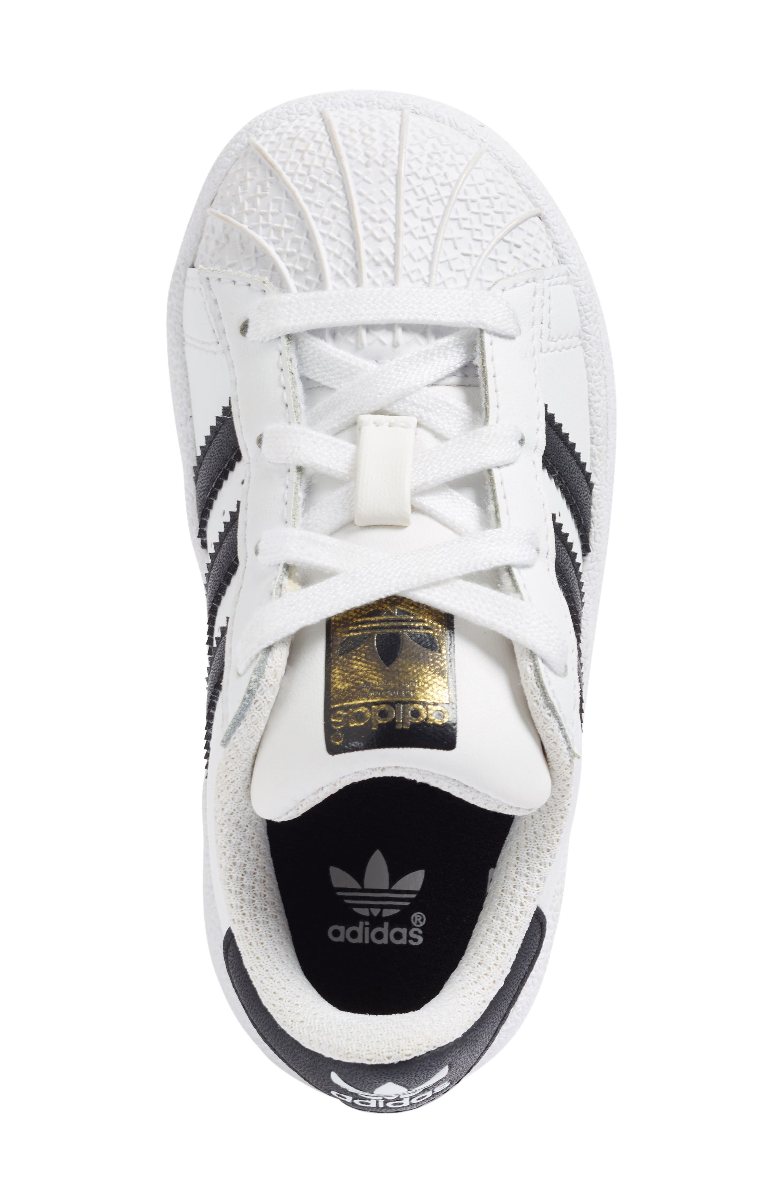 Superstar Foundation Sneaker,                             Alternate thumbnail 3, color,                             100