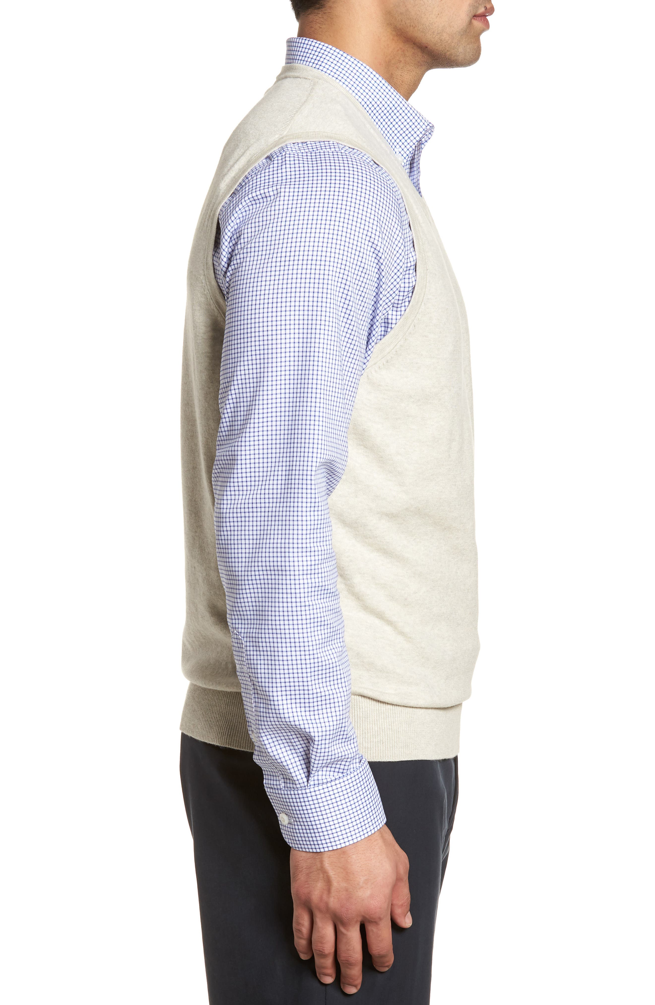 Lakemont Classic Fit Sweater Vest,                             Alternate thumbnail 3, color,                             OATMEAL HEATHER