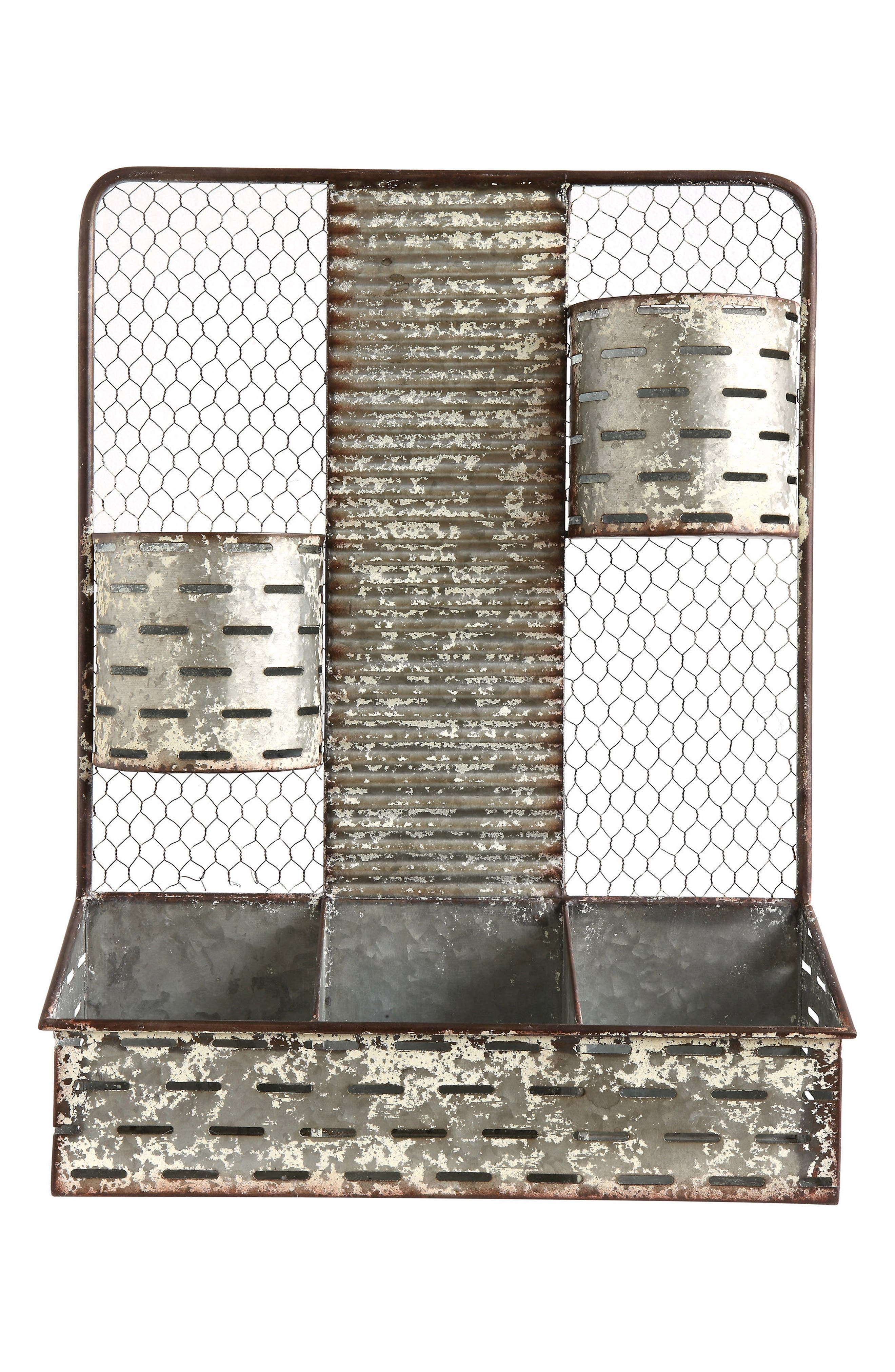 5-Compartment Metal Shelf Organizer,                         Main,                         color, 020