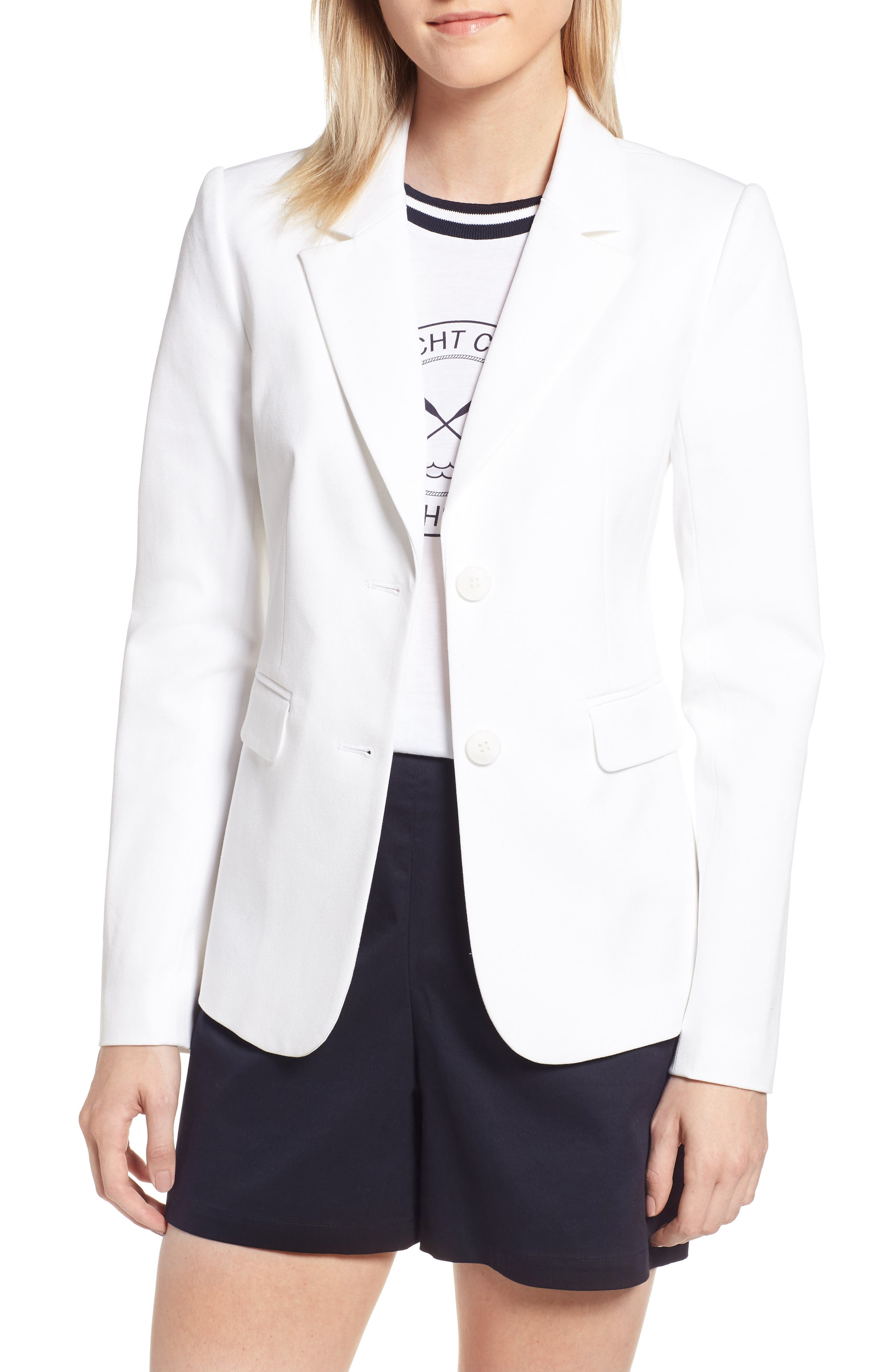 Stretch Cotton Twill Blazer,                             Main thumbnail 2, color,