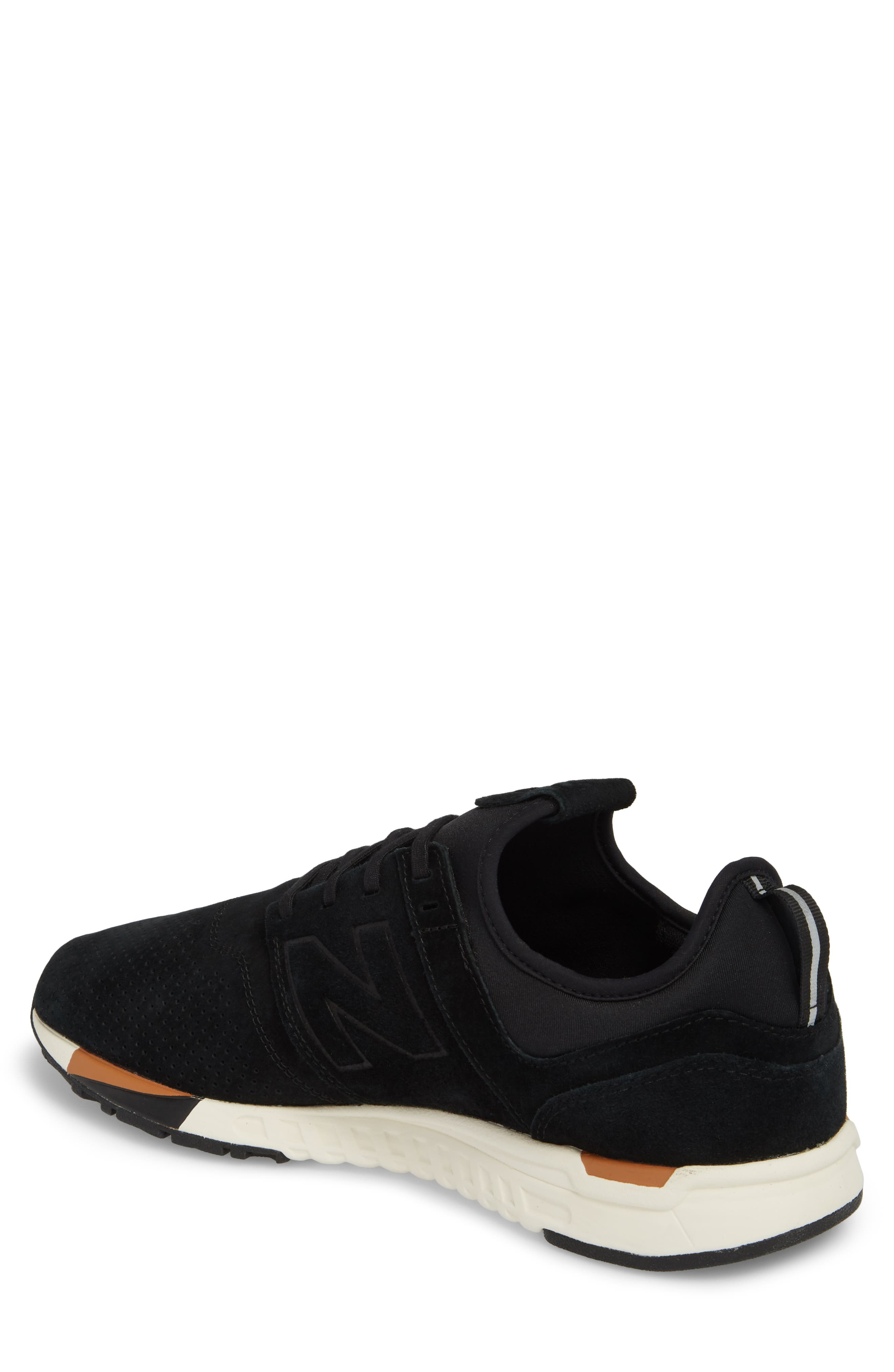 247 Luxe Sneaker,                             Alternate thumbnail 2, color,                             BLACK