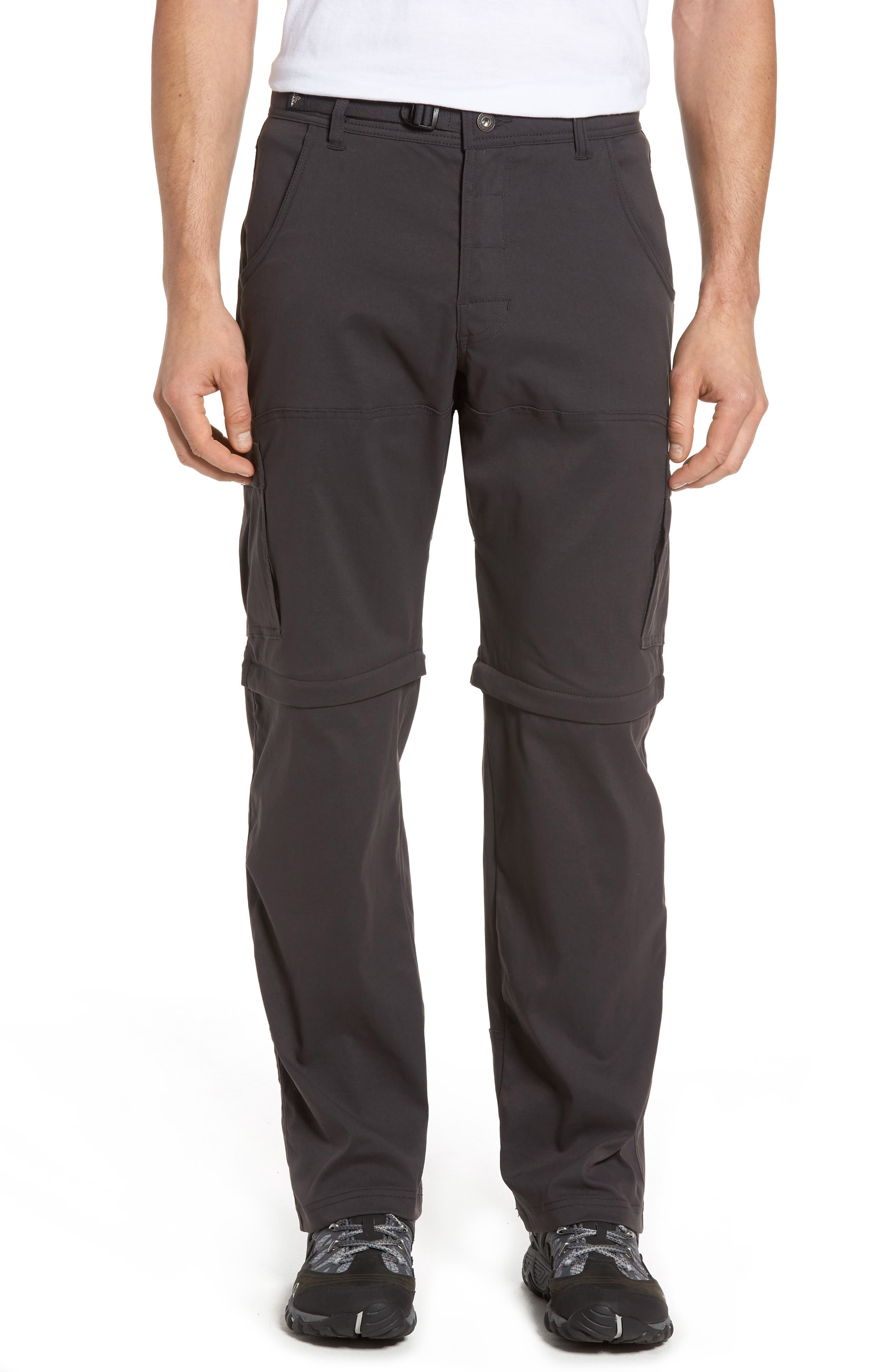 Zion Stretch Convertible Cargo Hiking Pants,                             Main thumbnail 1, color,                             010