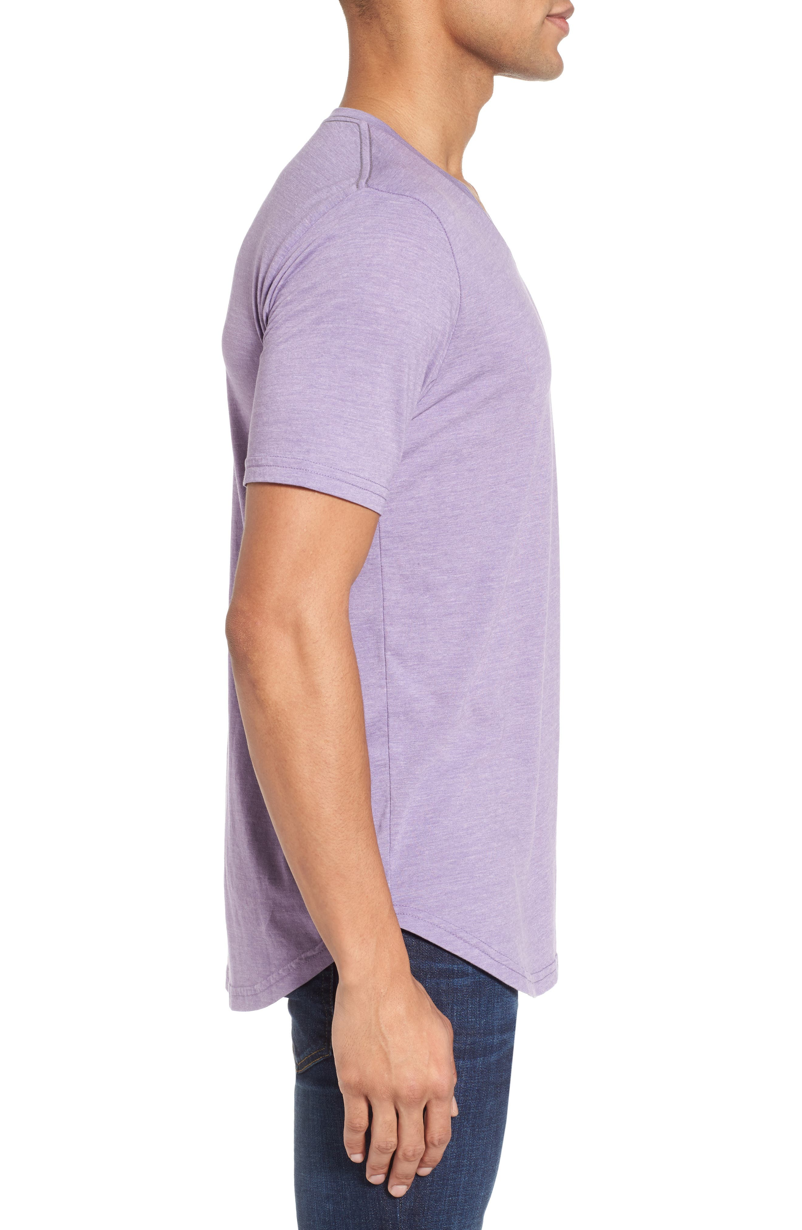 Scallop Triblend V-Neck T-Shirt,                             Alternate thumbnail 57, color,