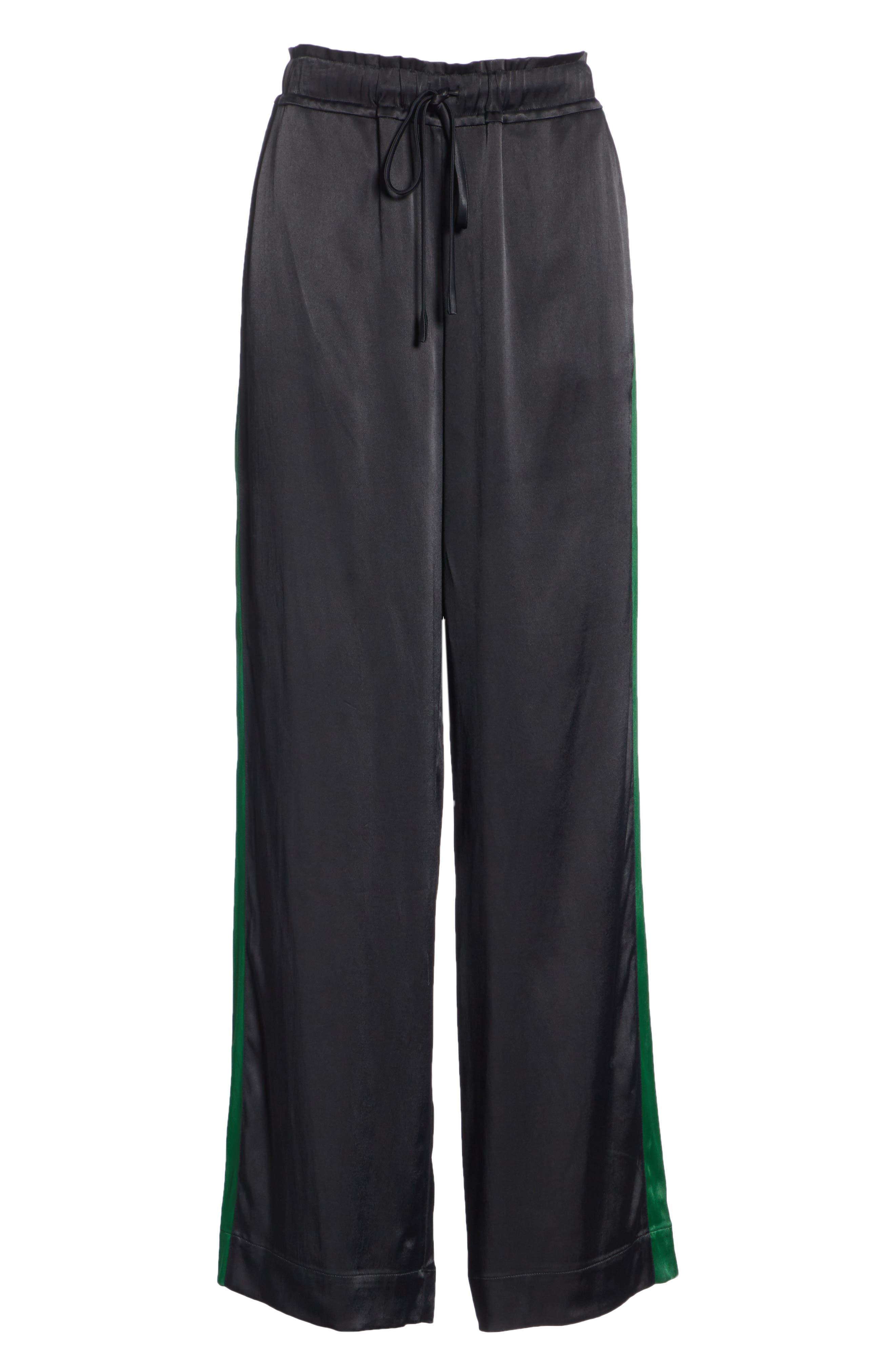 Wide Leg Pants,                             Alternate thumbnail 6, color,                             NOIR MULTI