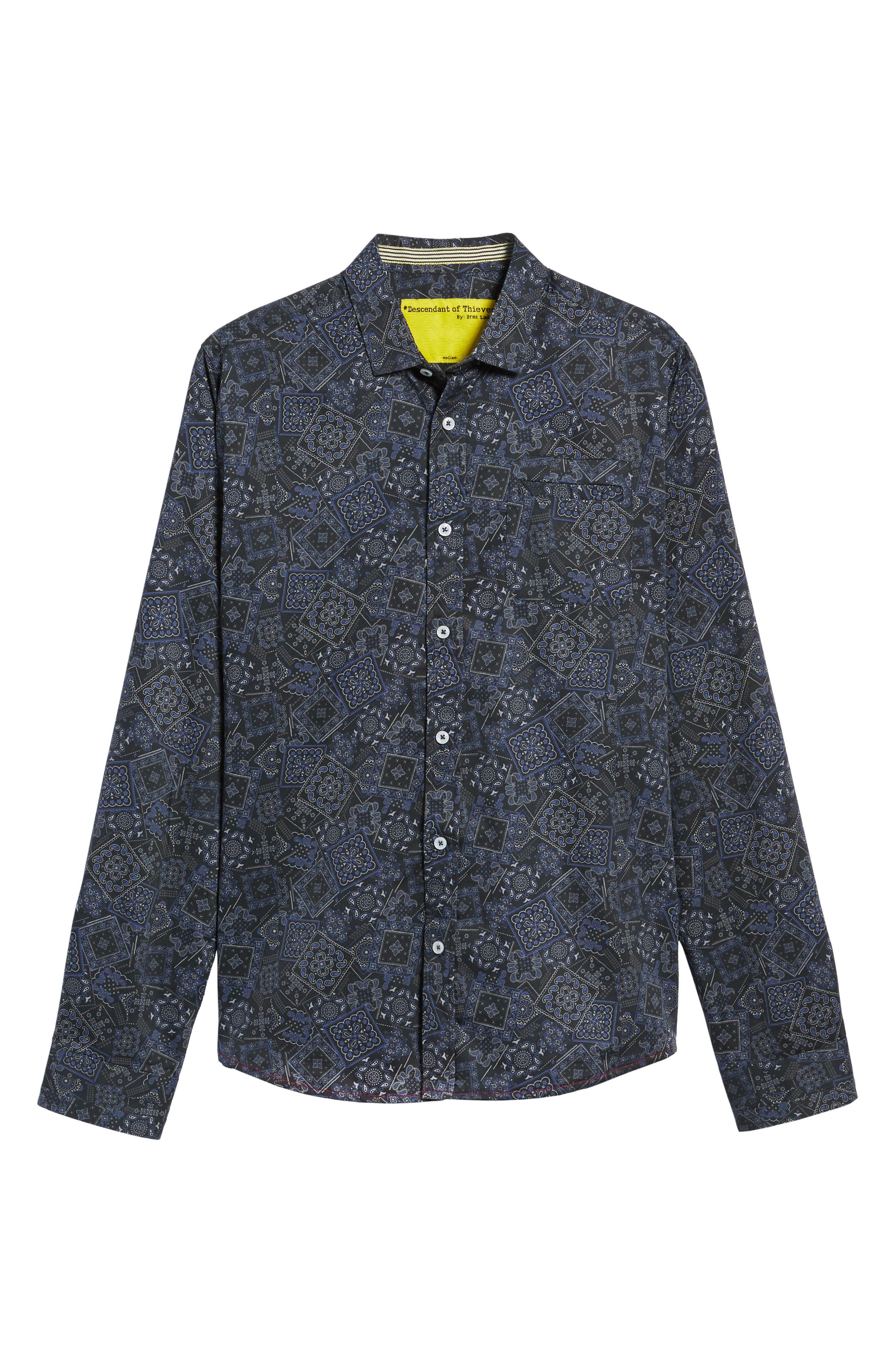 Bandana Woven Shirt,                             Alternate thumbnail 6, color,                             400