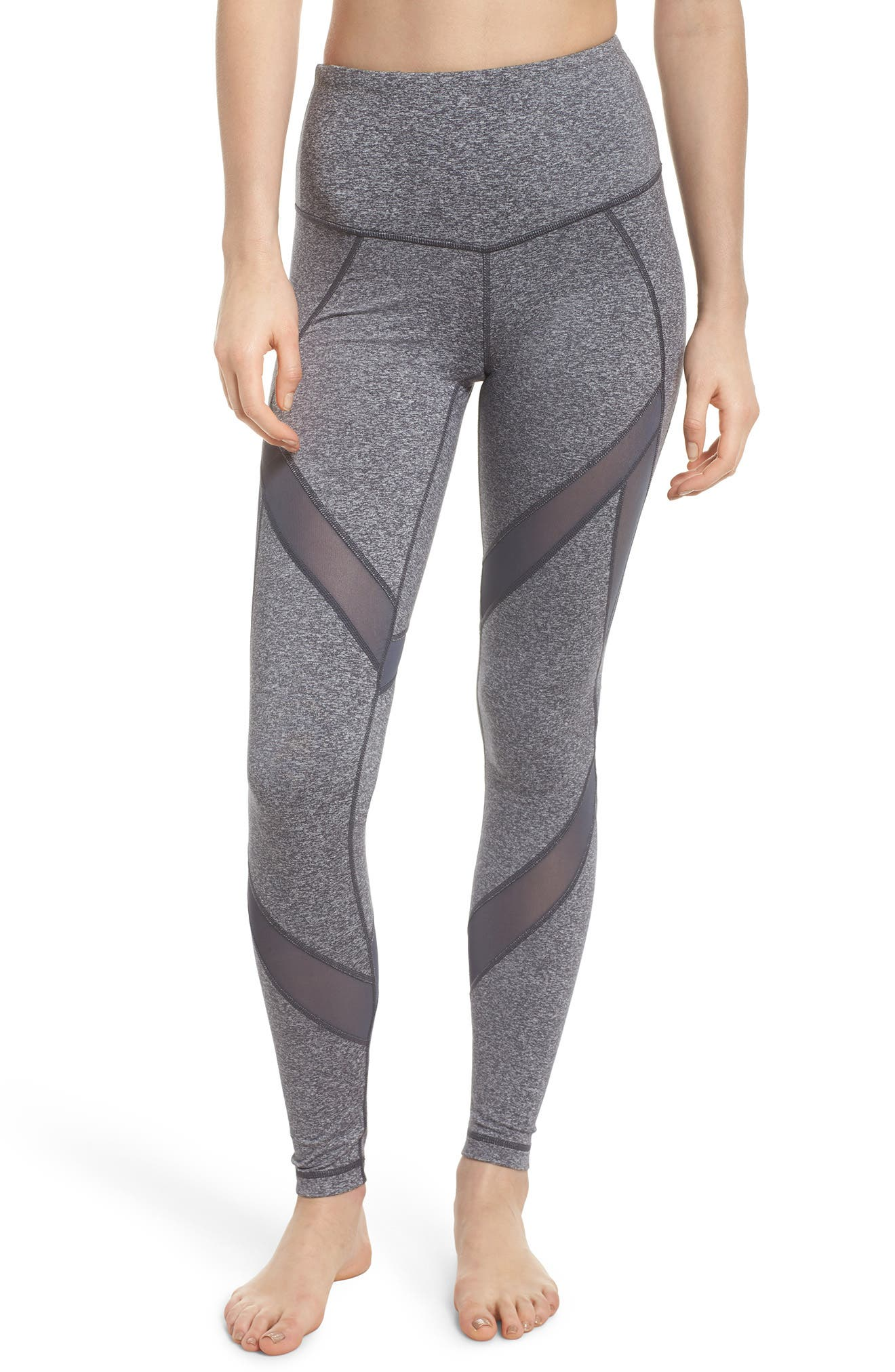 In Dreams High Waist Leggings,                         Main,                         color, GREY GRAPHITE MELANGE