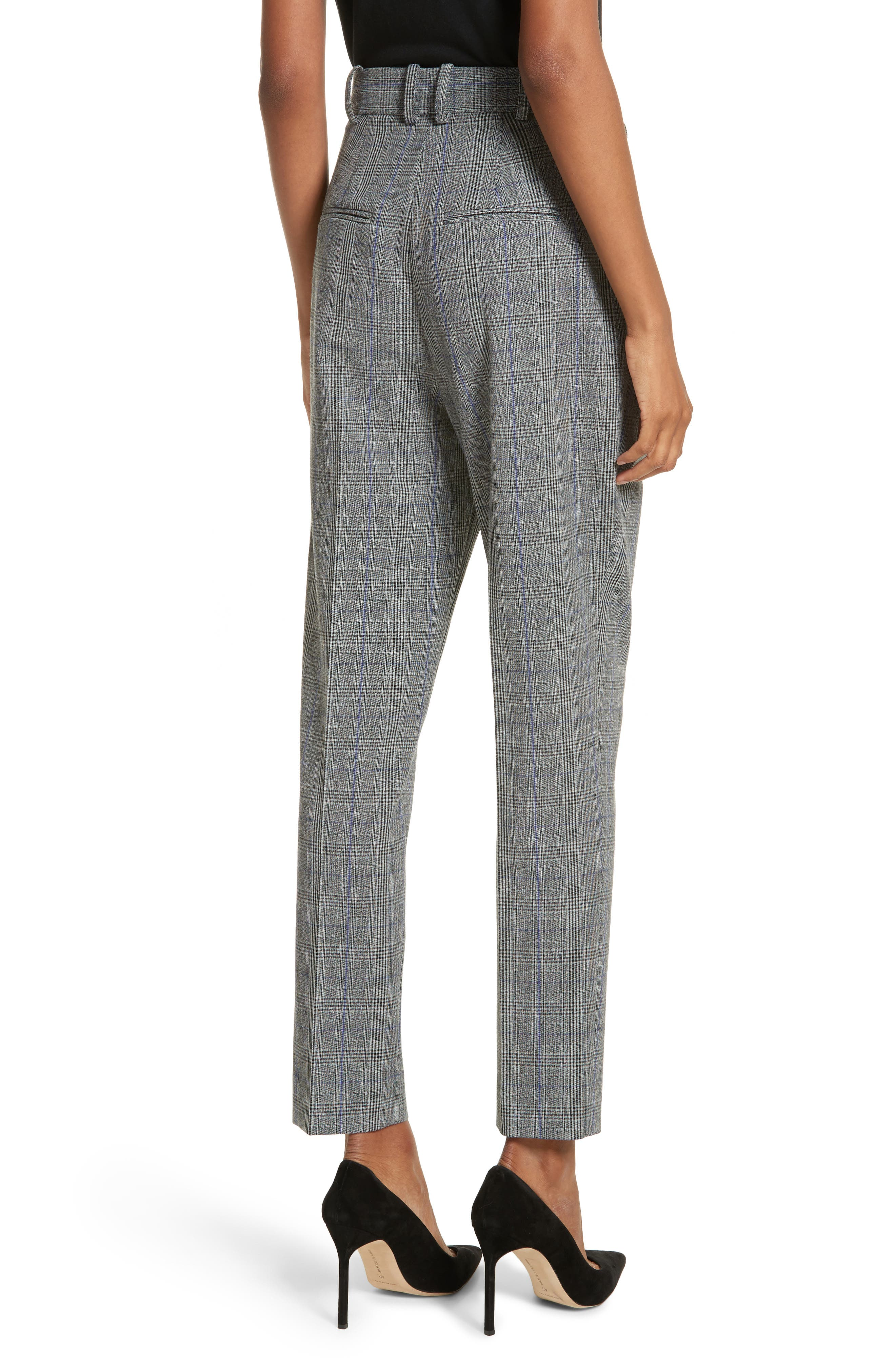 Check Pleat Front Pants,                             Alternate thumbnail 2, color,                             014