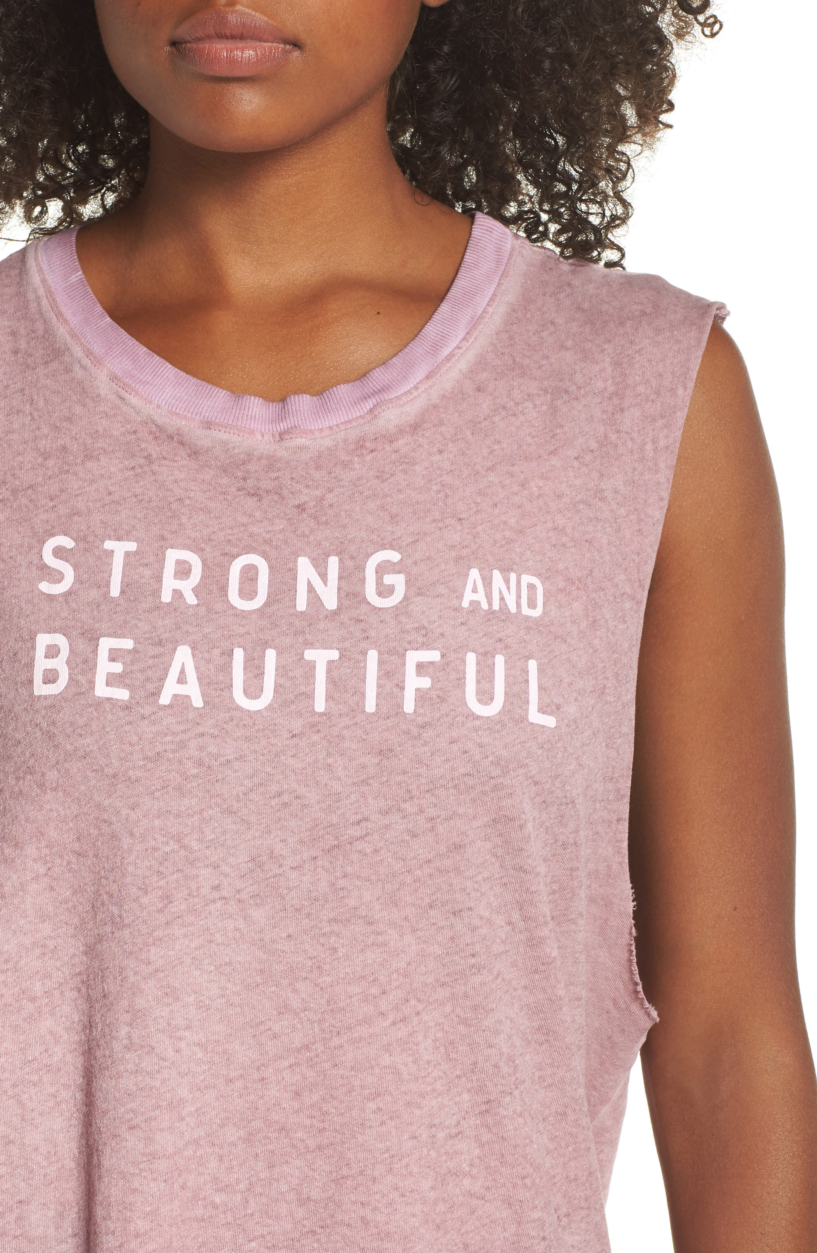 Strong and Beautiful Muscle Tank,                             Alternate thumbnail 4, color,                             ANTIQUE DUSTY ROSE