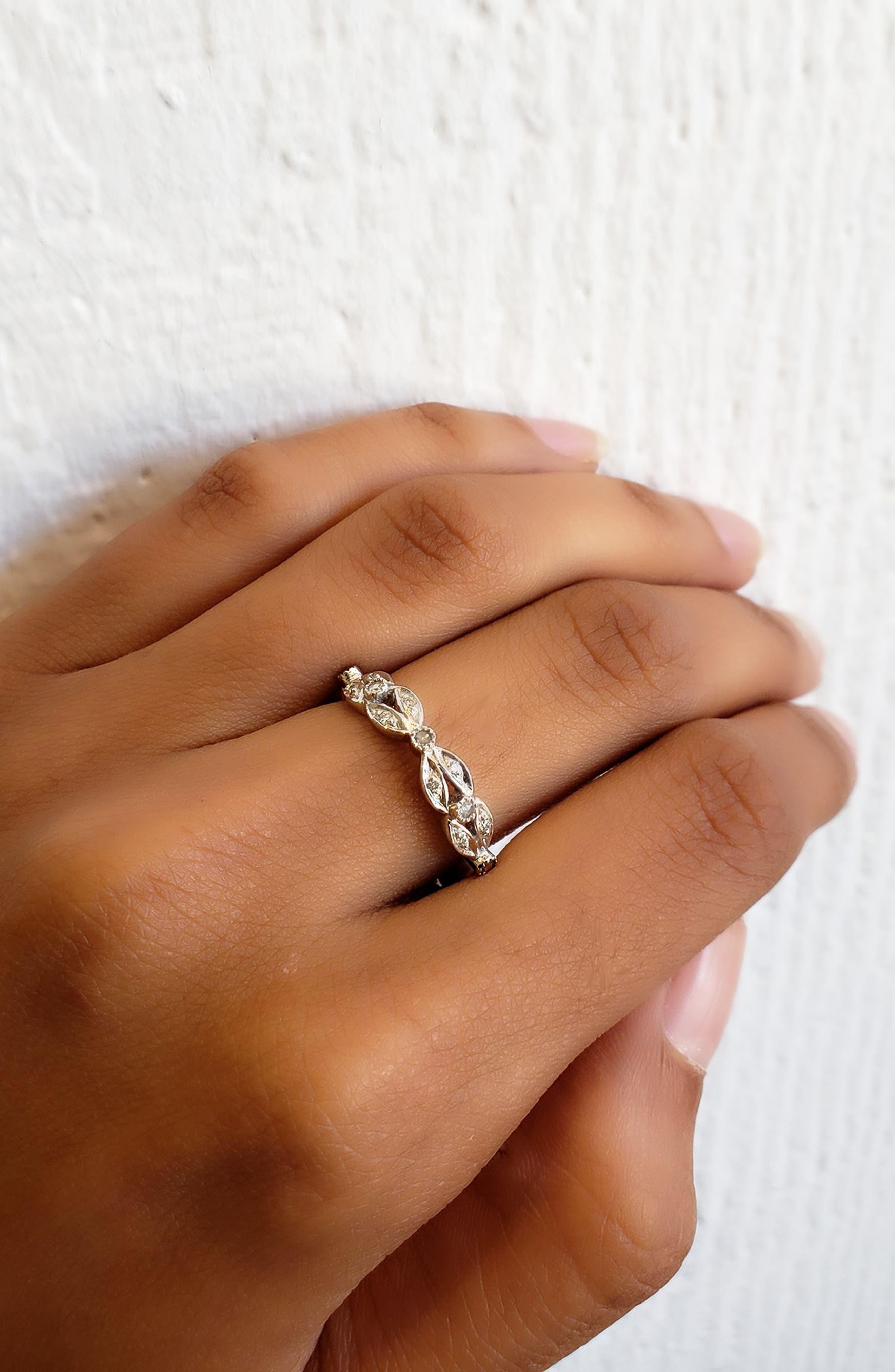 Diamond Garland Band Ring,                             Alternate thumbnail 2, color,                             WHITE GOLD