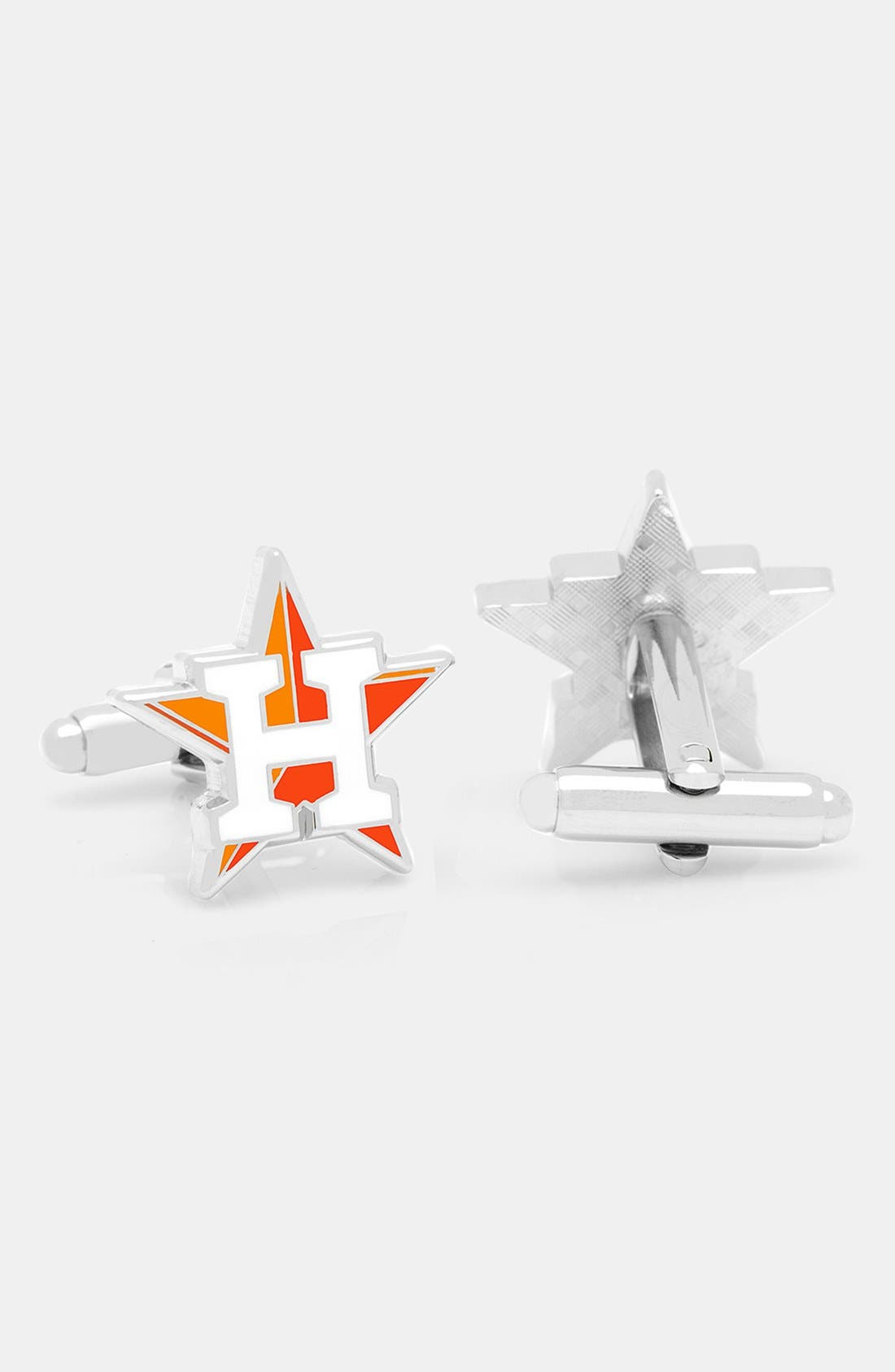 'Houston Astros' Cuff Links,                         Main,                         color, ORANGE