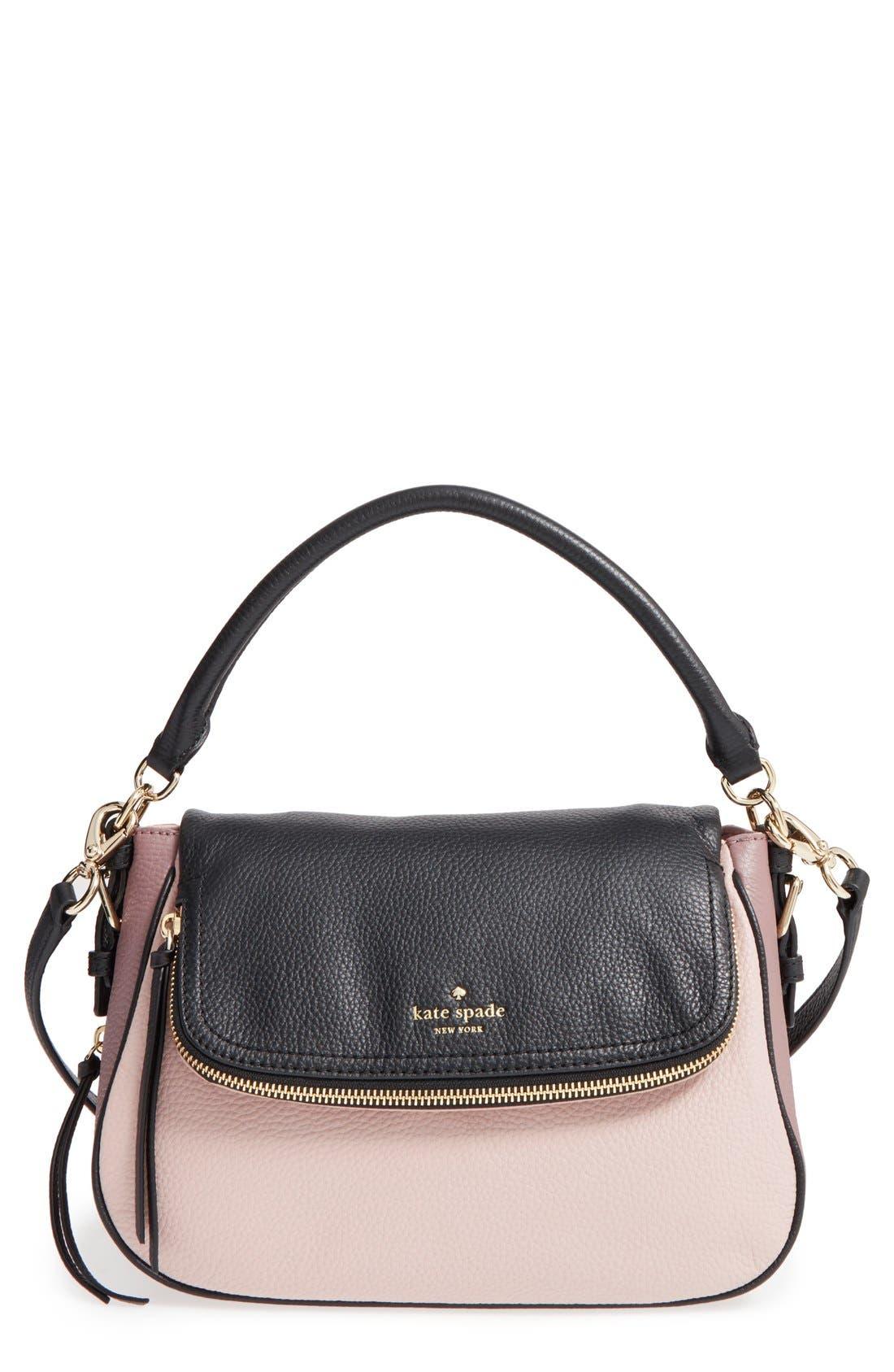 cobble hill - deva leather crossbody bag,                             Main thumbnail 6, color,